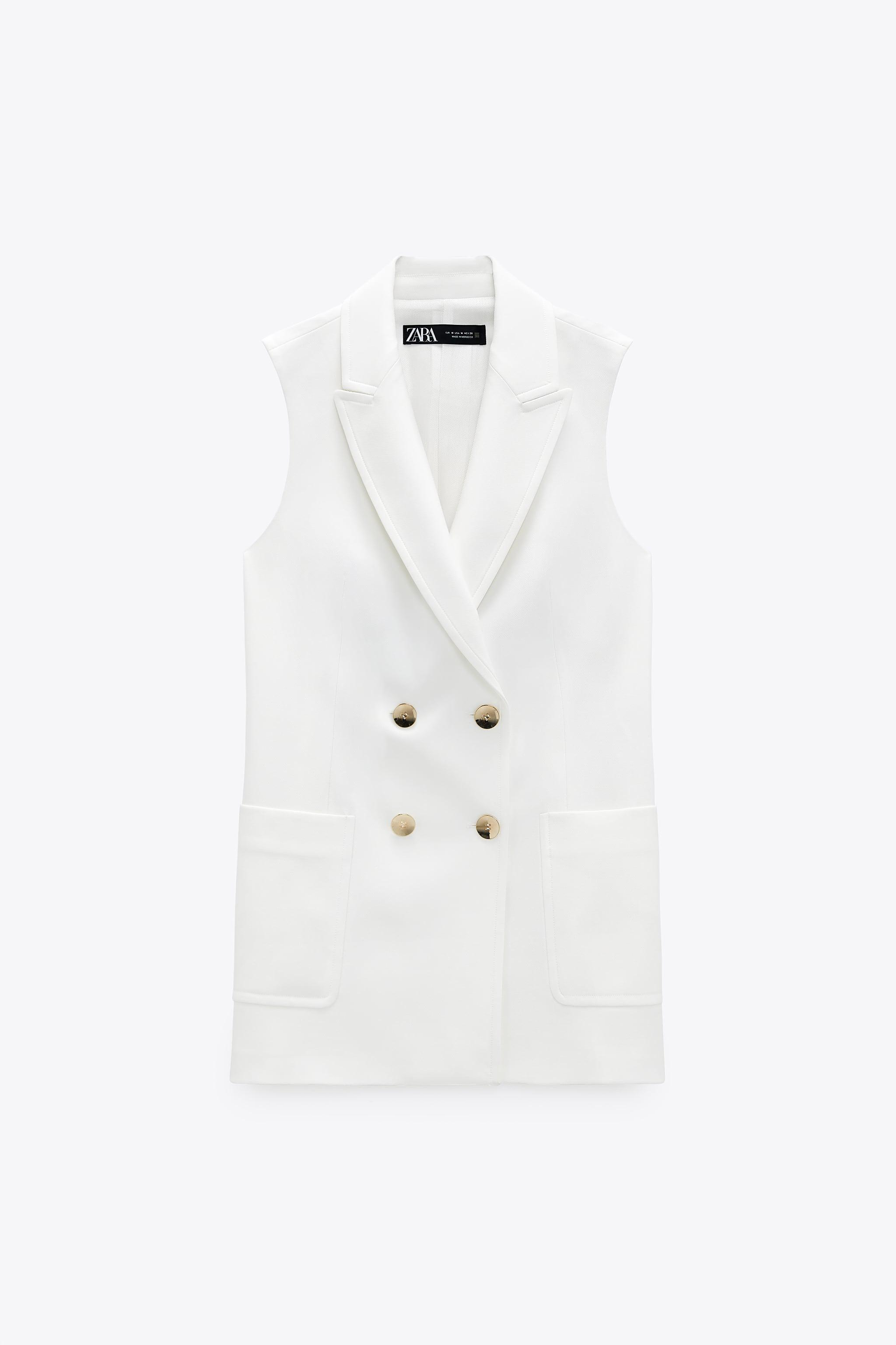 DOUBLE BREASTED VEST WITH PATCH POCKETS 1