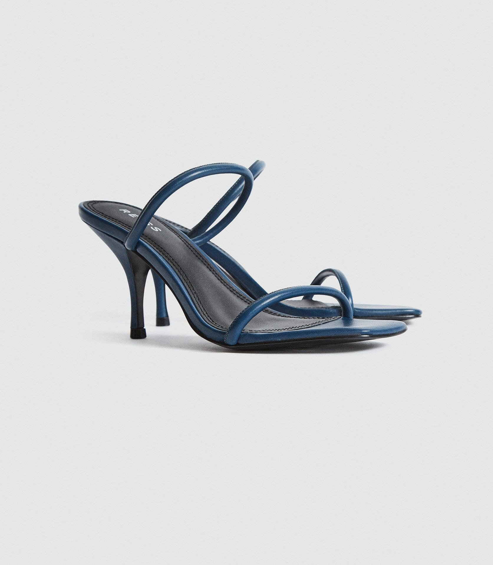 MAGDA - LEATHER STRAPPY HEELED SANDALS 1