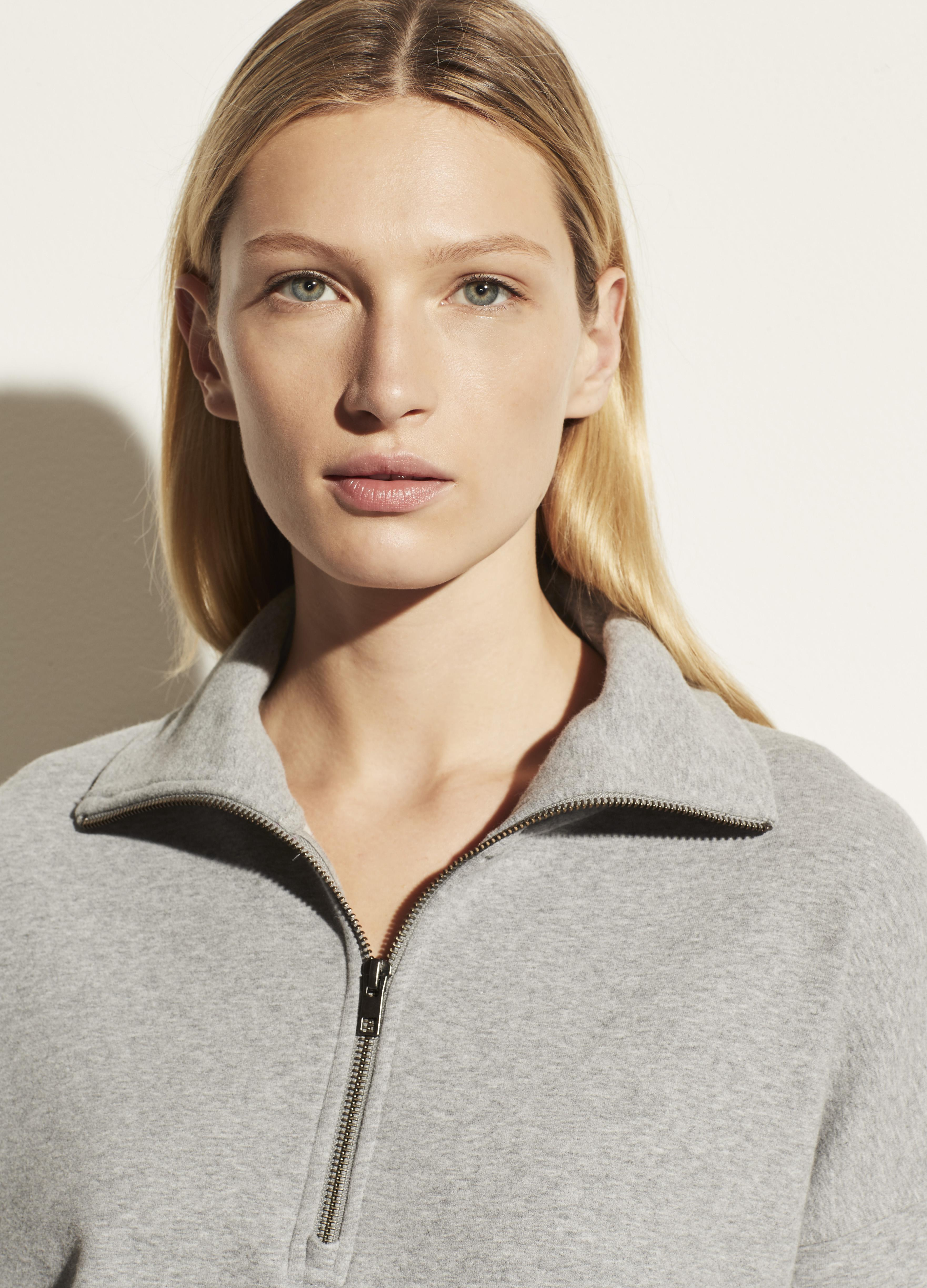 French Terry Half Zip Pullover