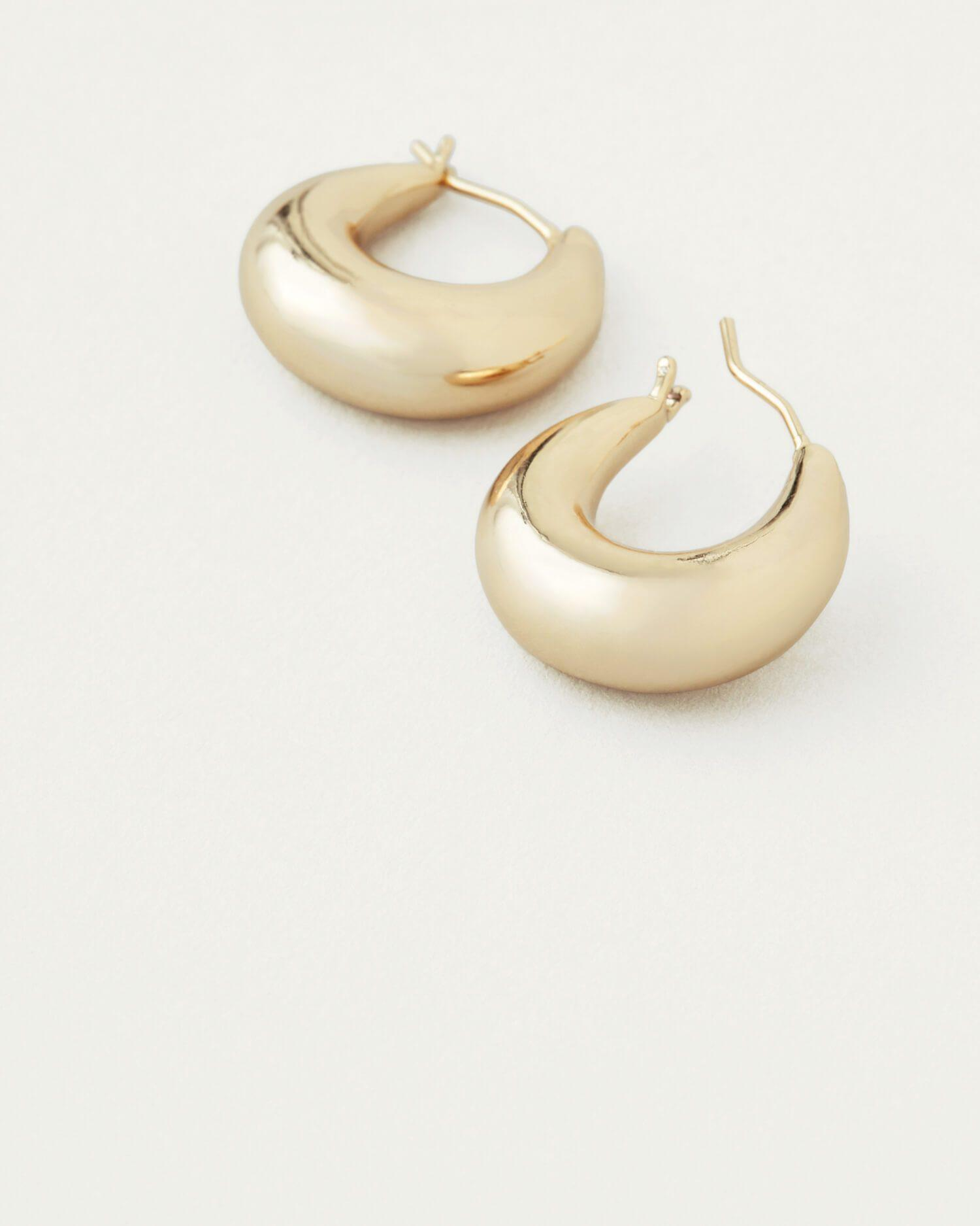 Alana Gold Large Dome Hoop Earring 1