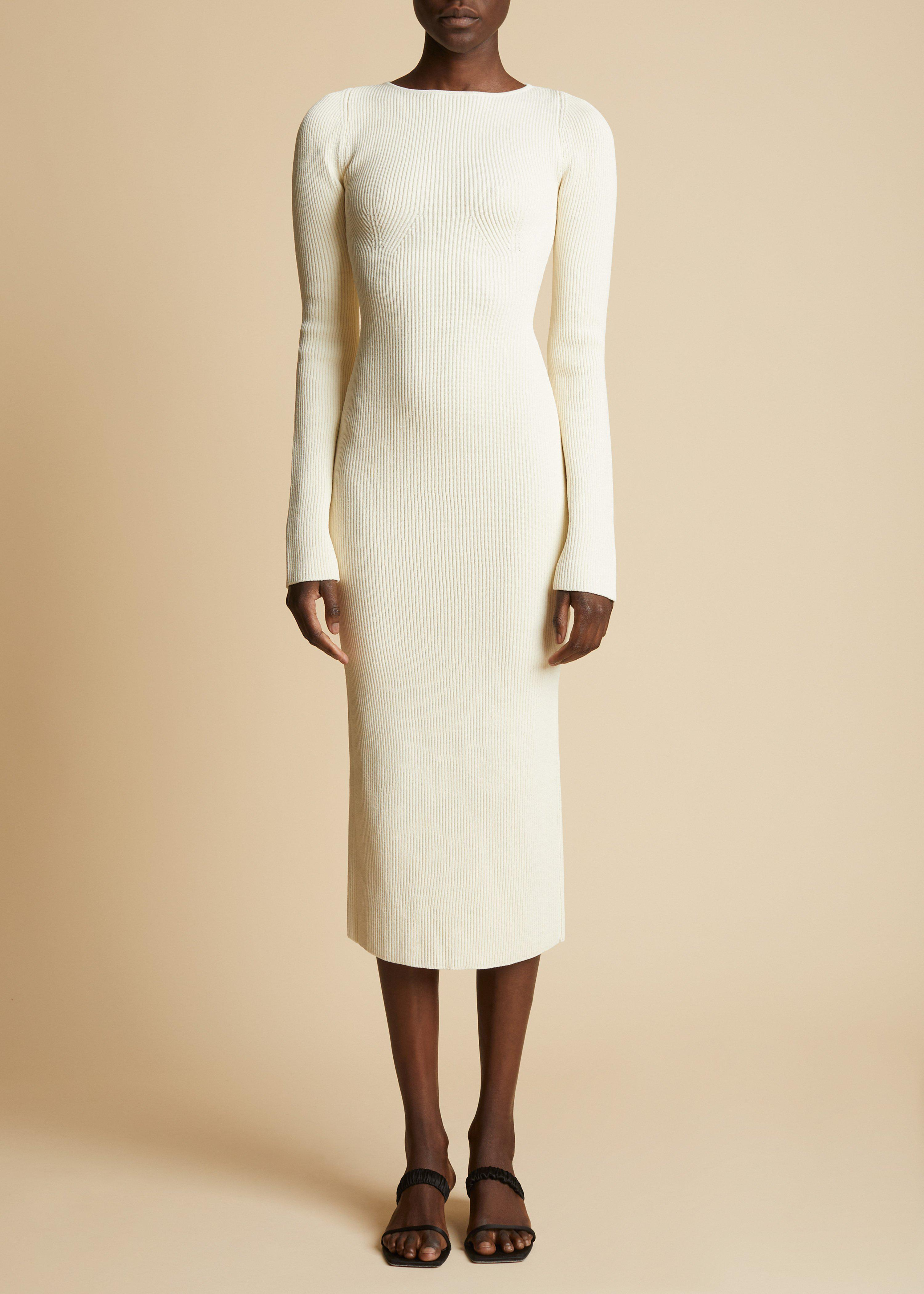 The Vivia Dress in Ivory 1