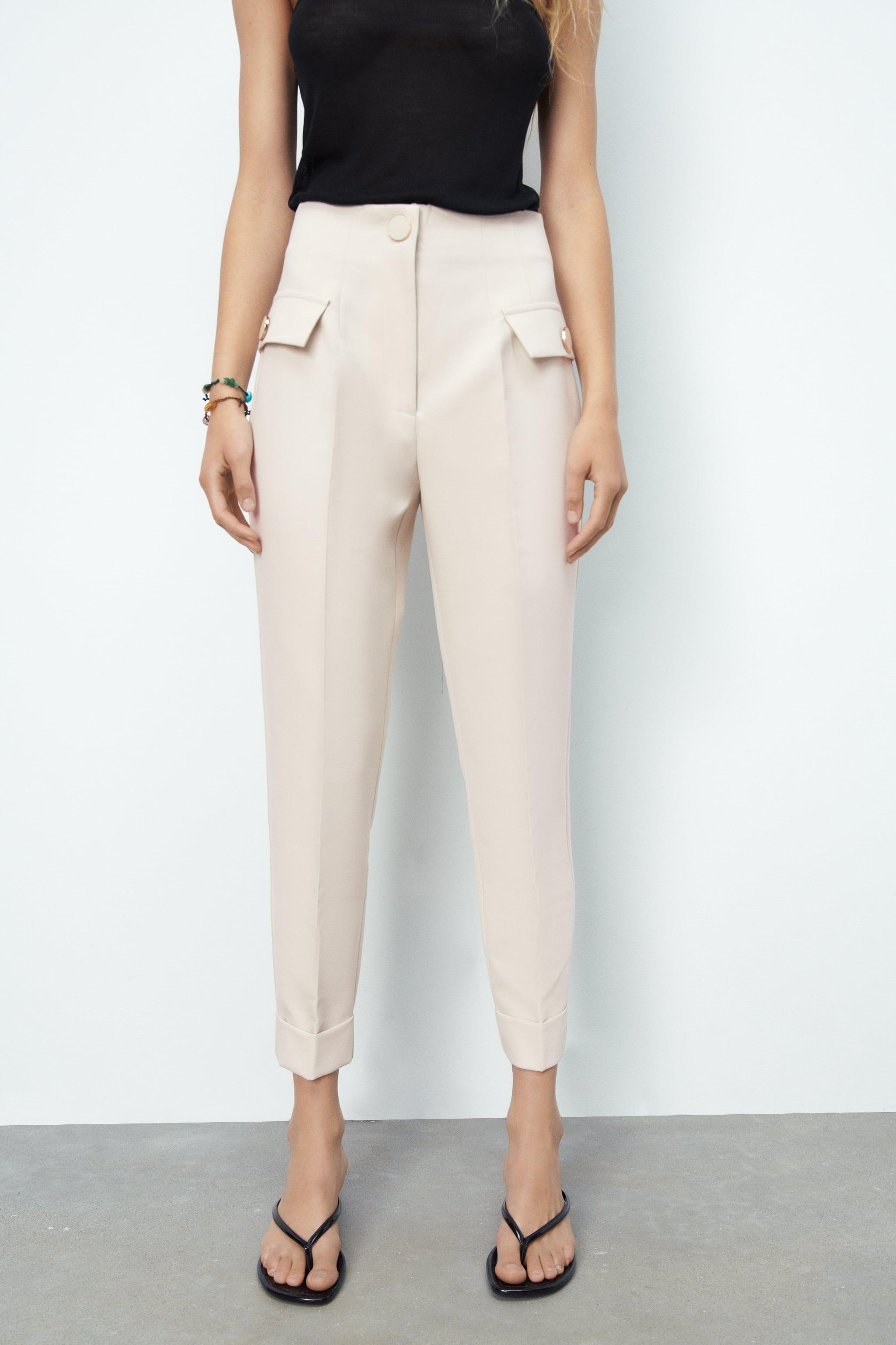 BUTTONED HIGH-WAISTED PANTS 1