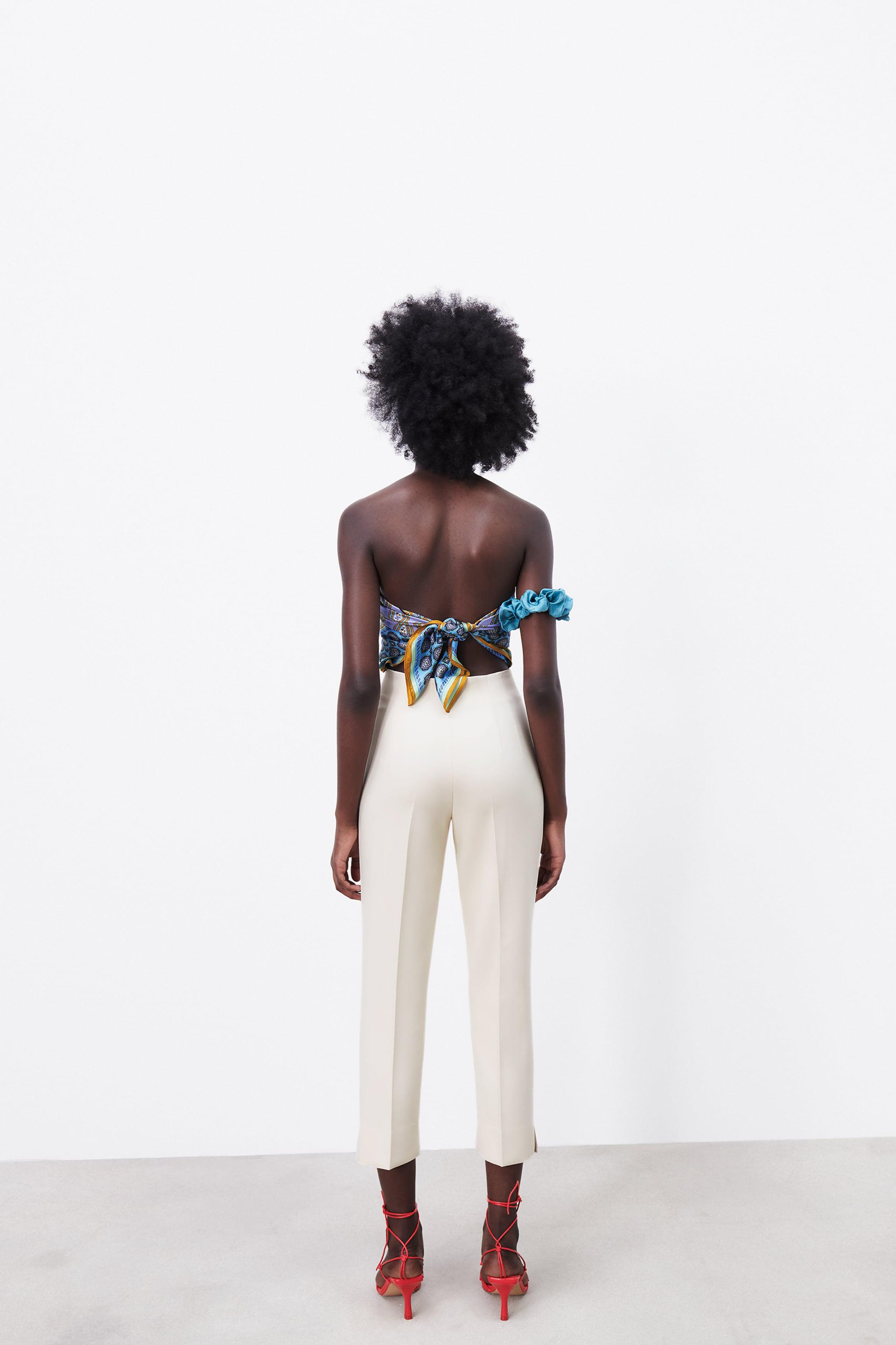 HIGH-WAISTED PANTS WITH VENTS 4