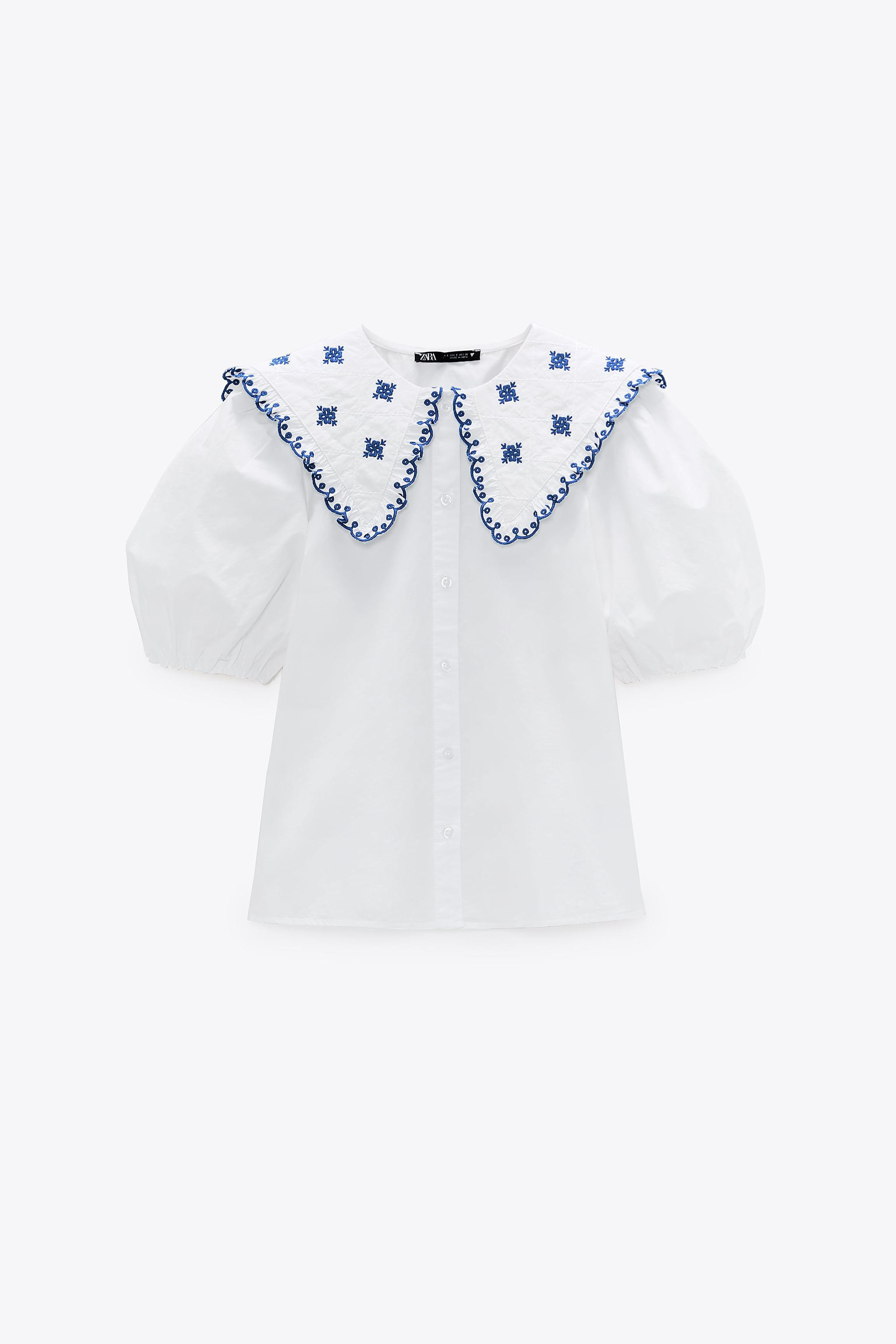 EMBROIDERED POPLIN TOP 5