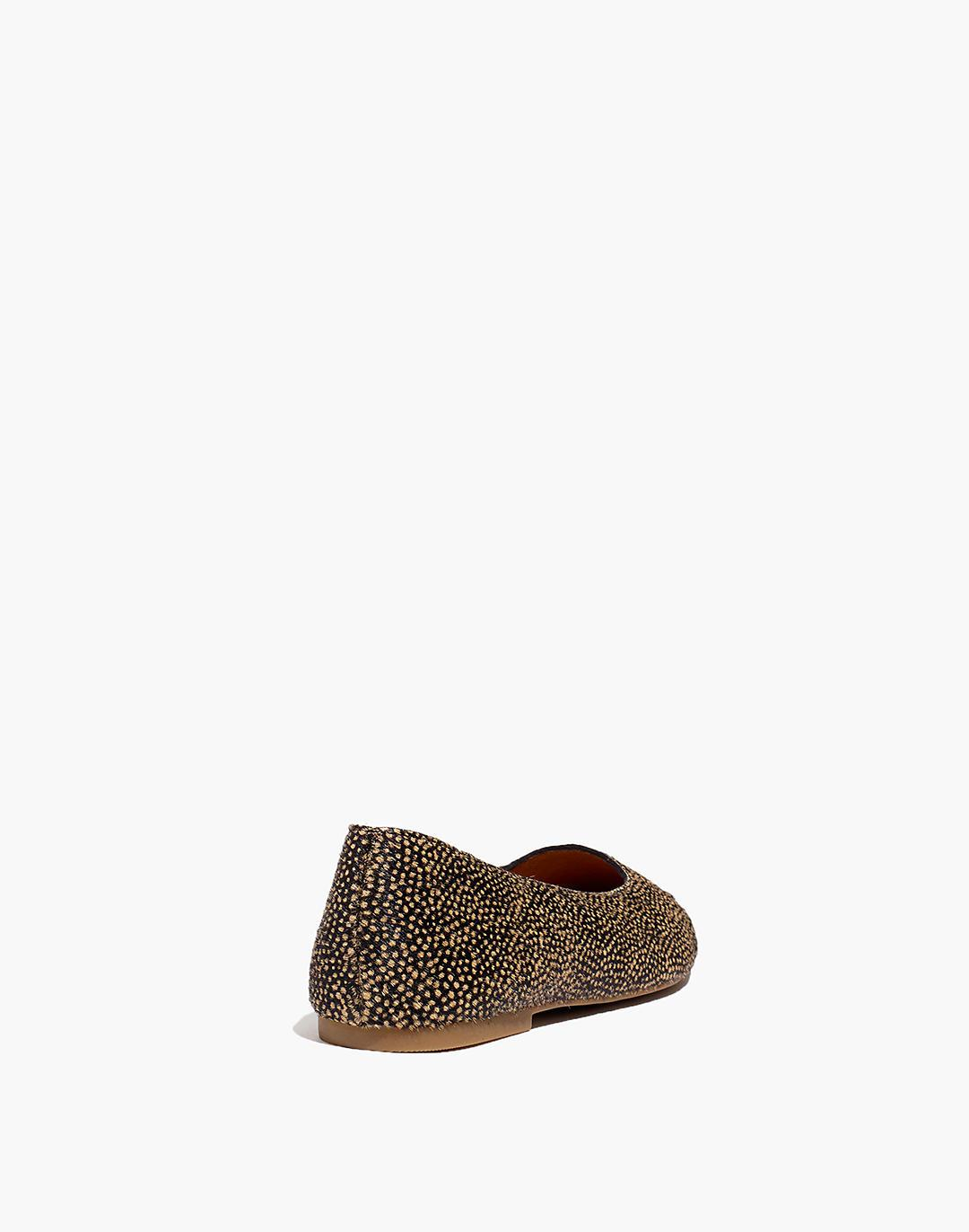 The Cory Flat in Spotted Calf Hair 2