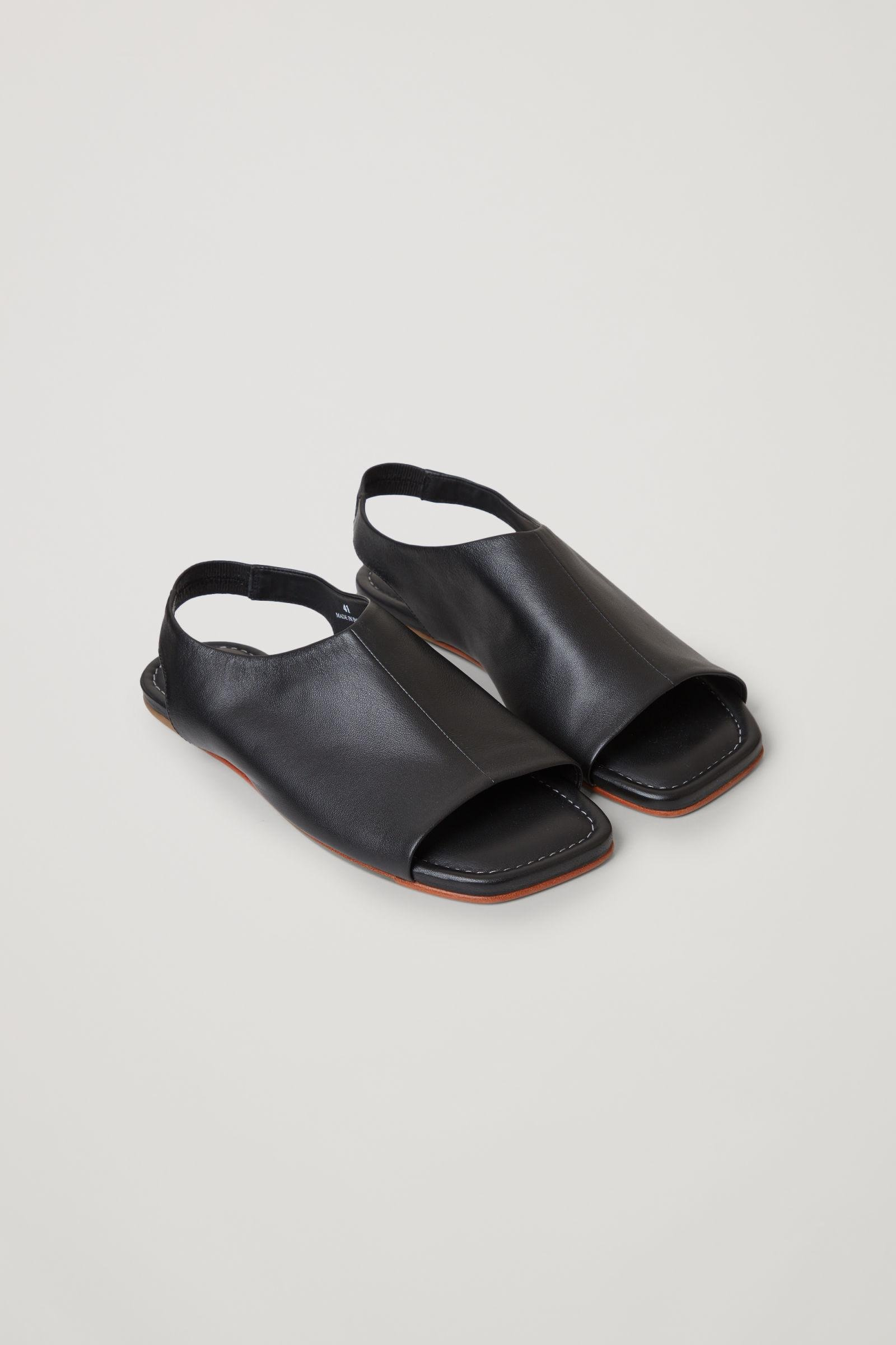 LEATHER OPEN-TOE SANDALS