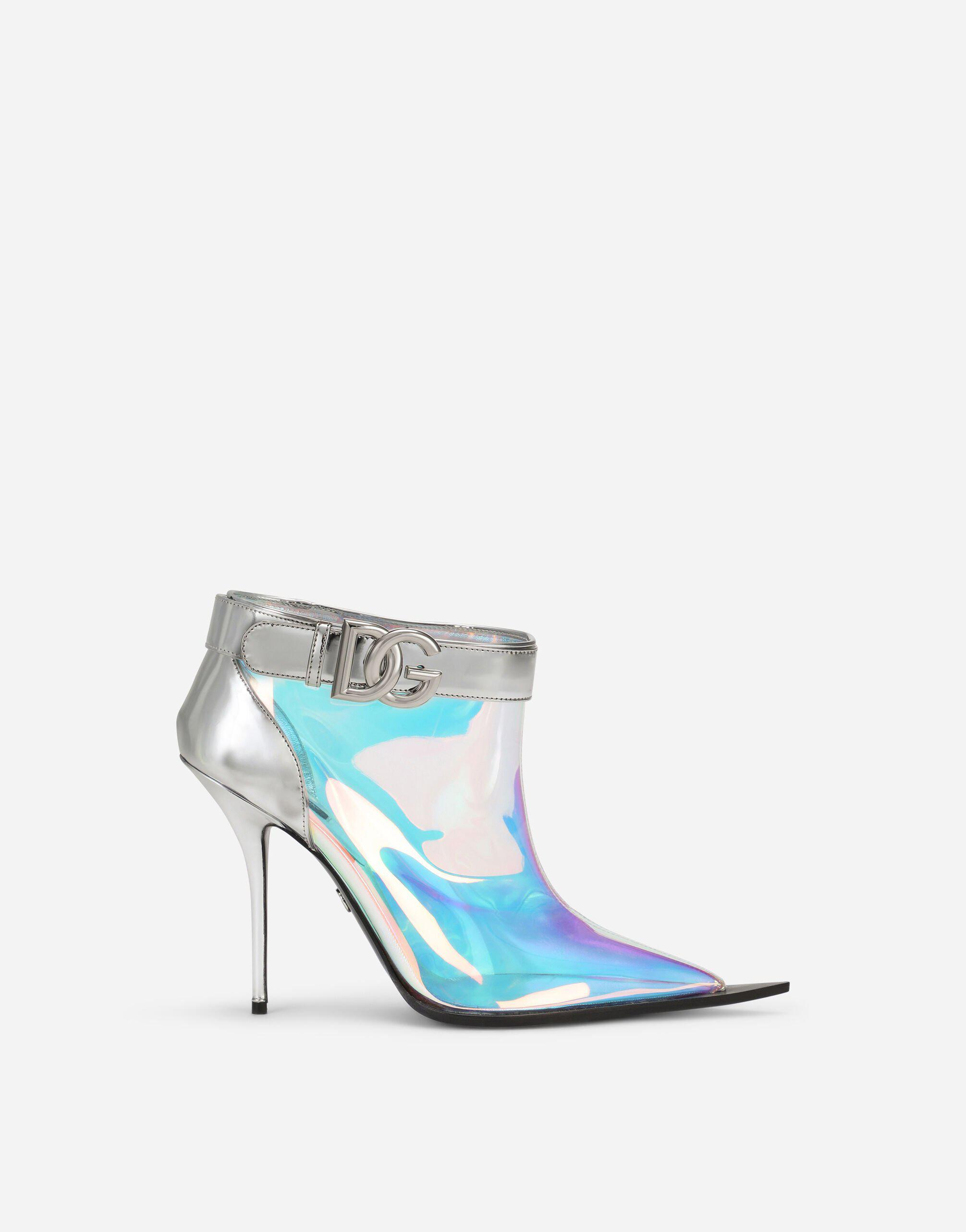 Shimmery PVC ankle boots with DG logo
