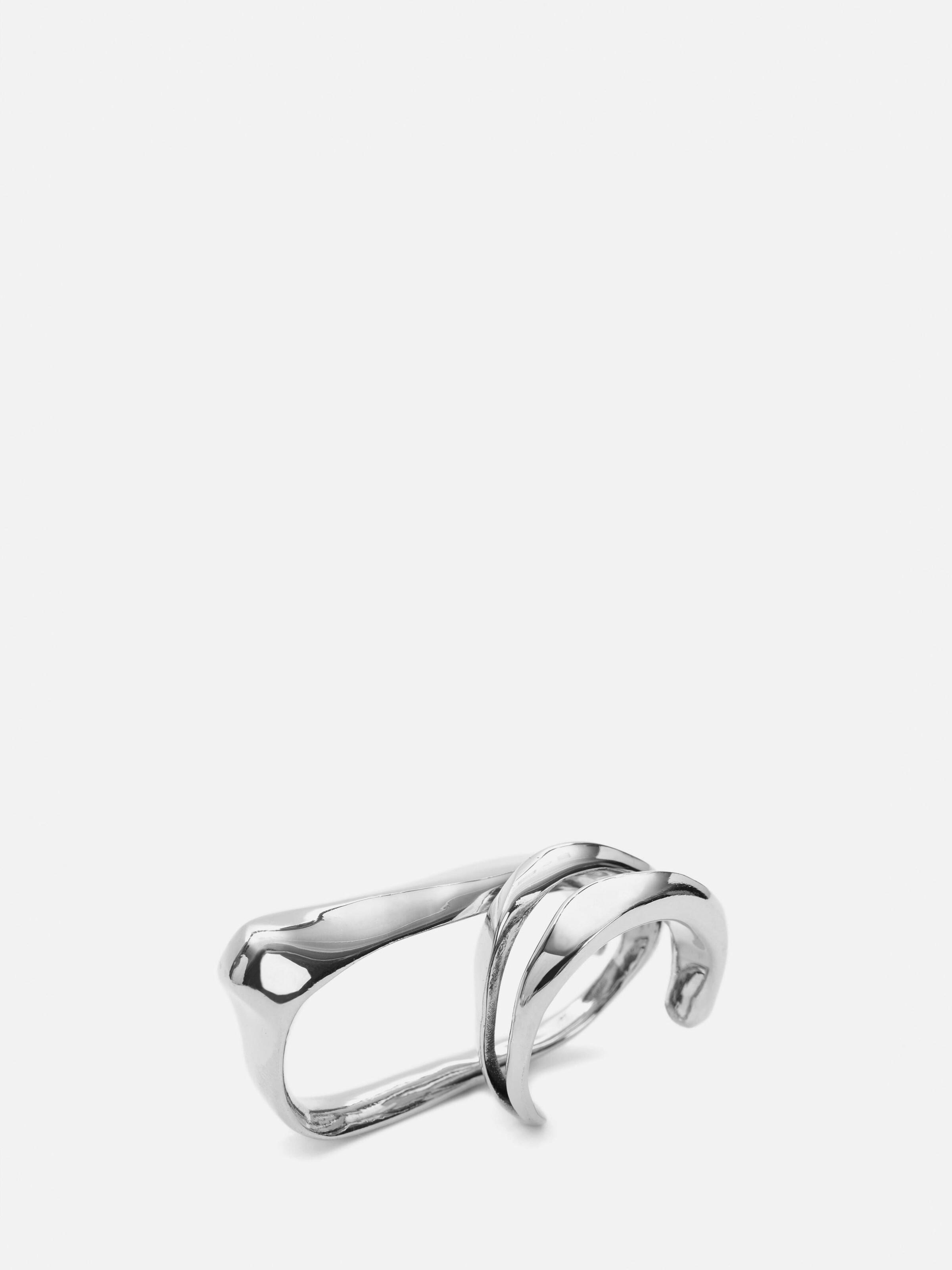 Sculptural Double Ring 1