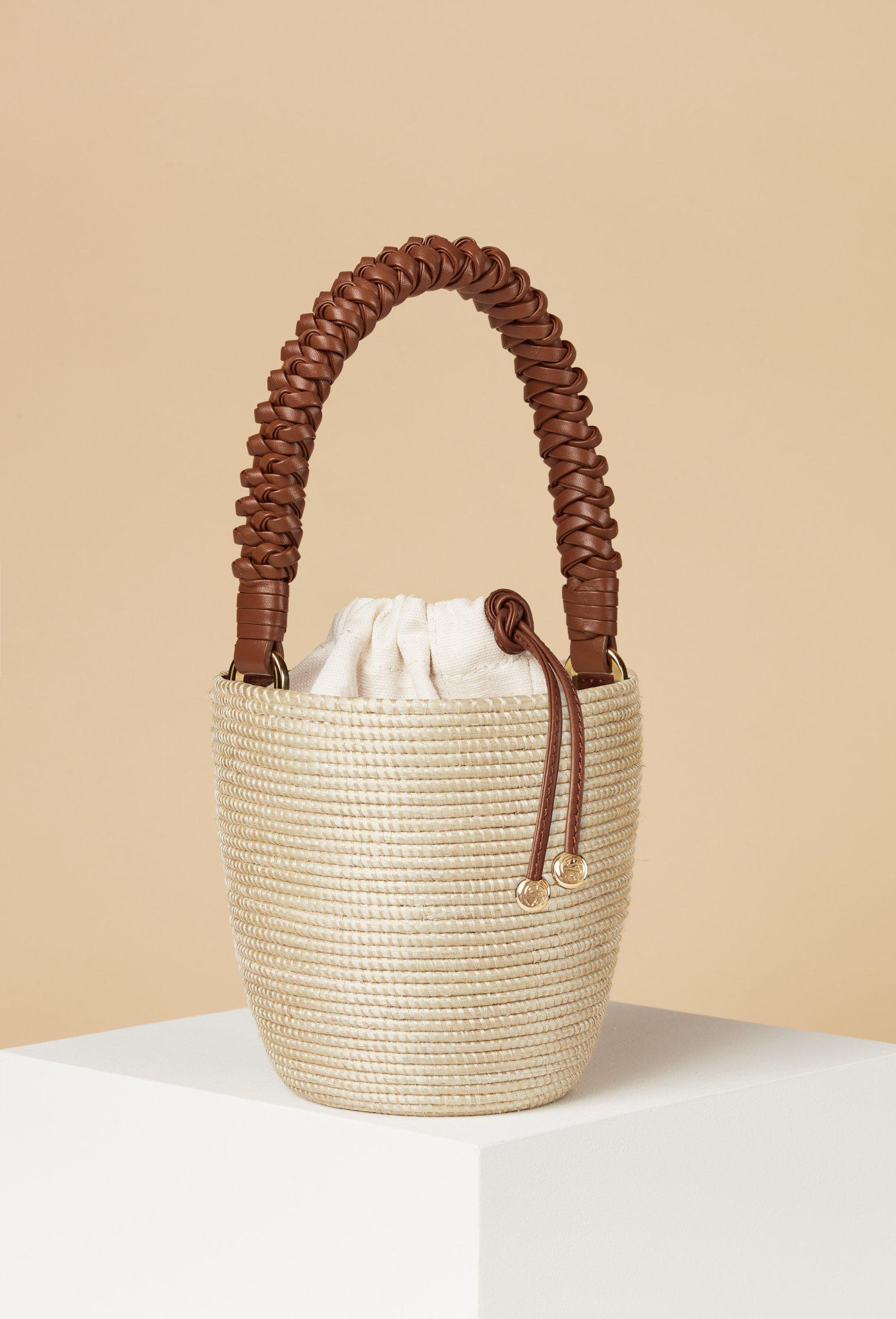Woven Handle Lunchpail / Papyrus