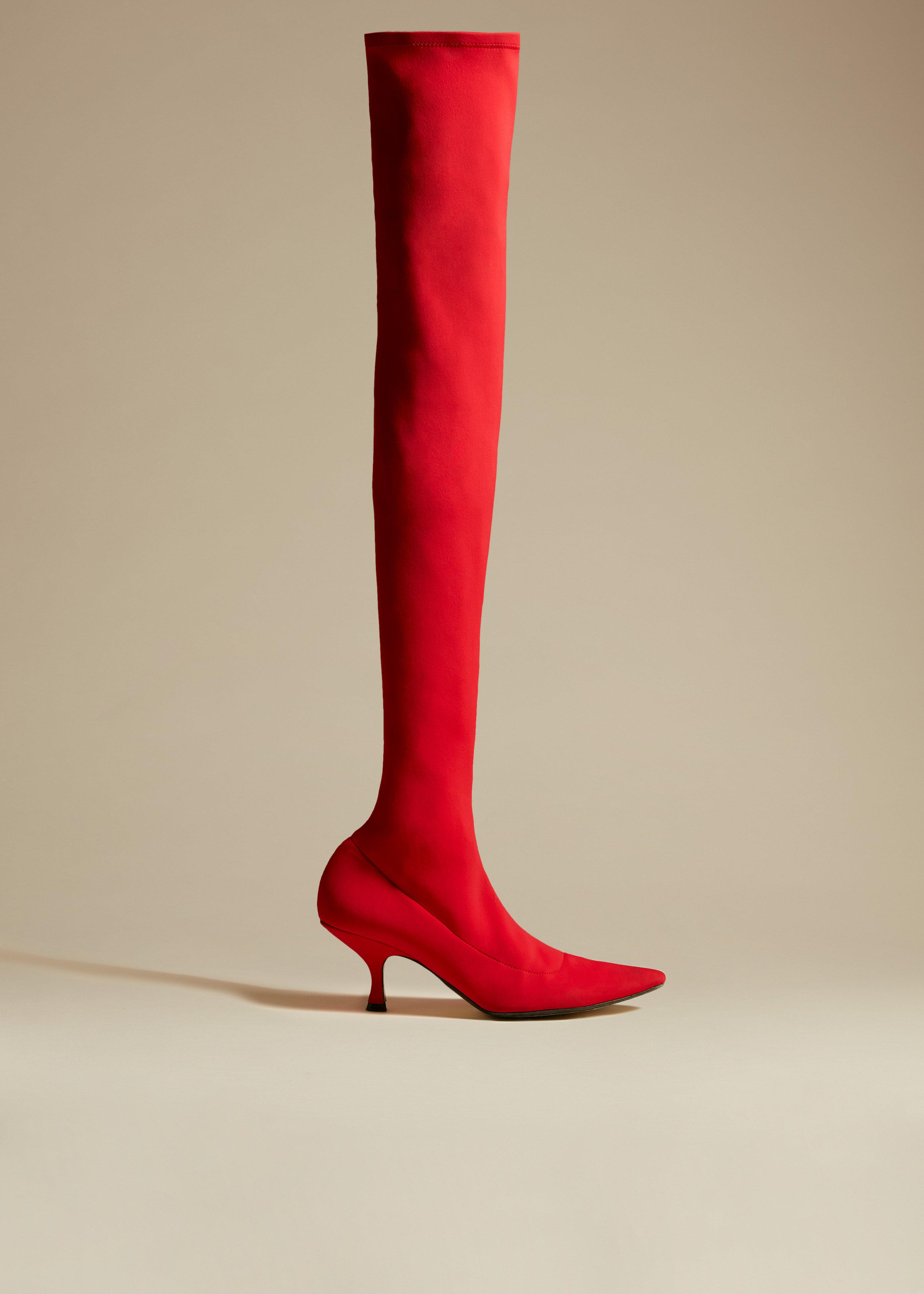 The Taylor Over-the-Knee Boot in Red