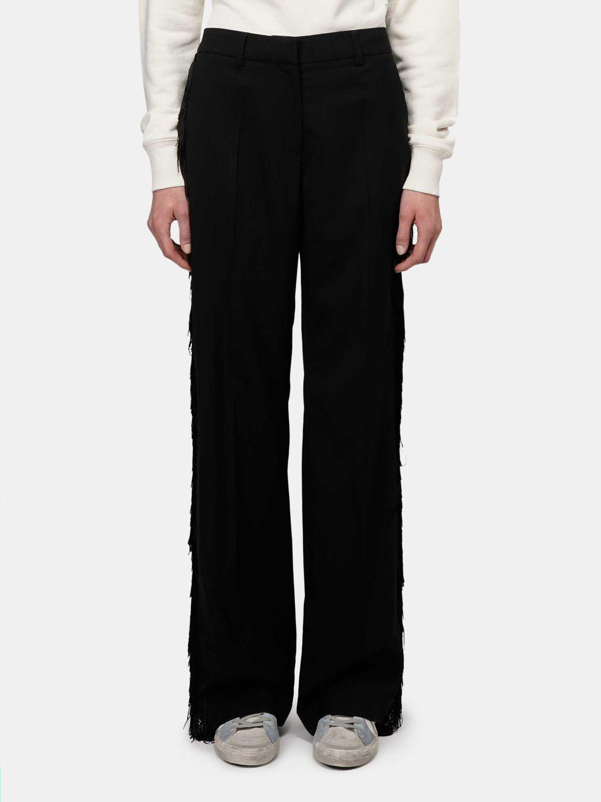 Abigail trousers with decorative fringing