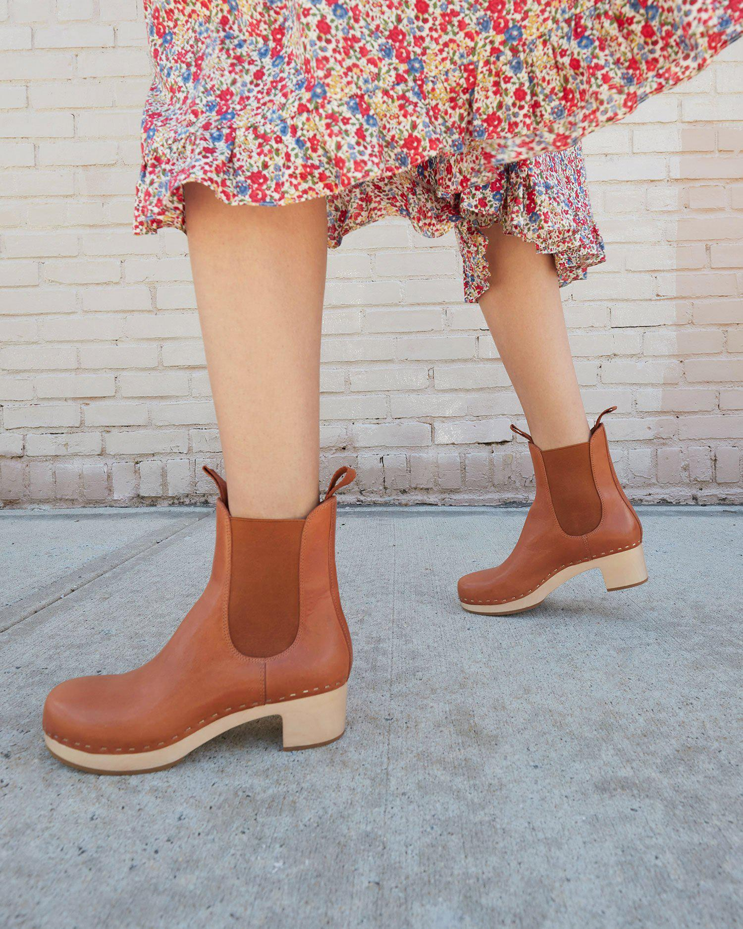 Anabelle Cognac Clog Boot 4