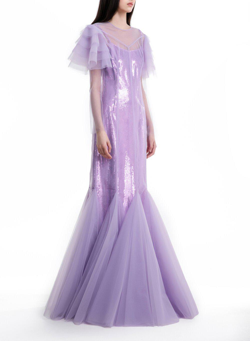 AURORA GOWN LILAC TULLE 2