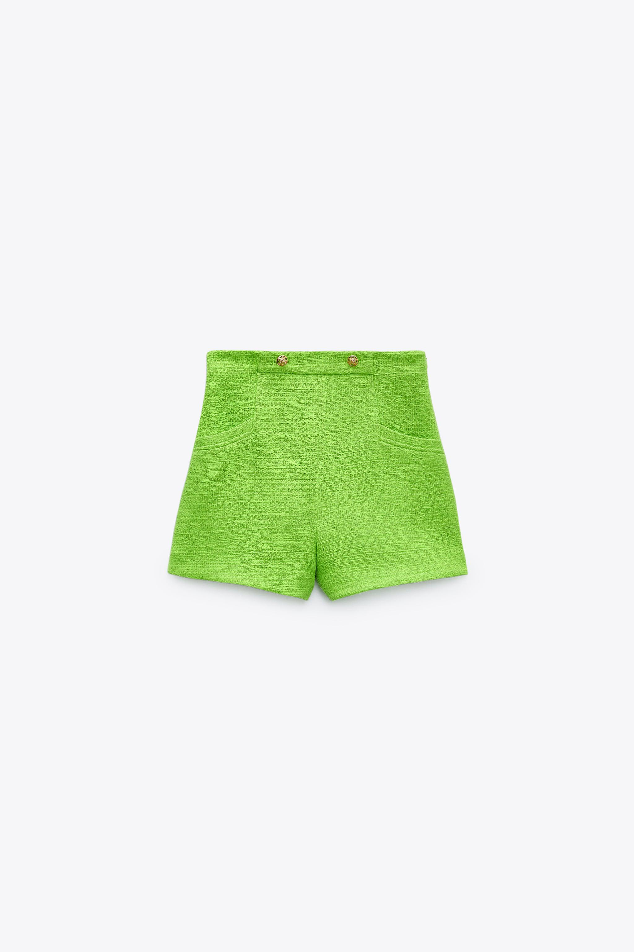 TEXTURED WEAVE SHORTS WITH BUTTONS 4