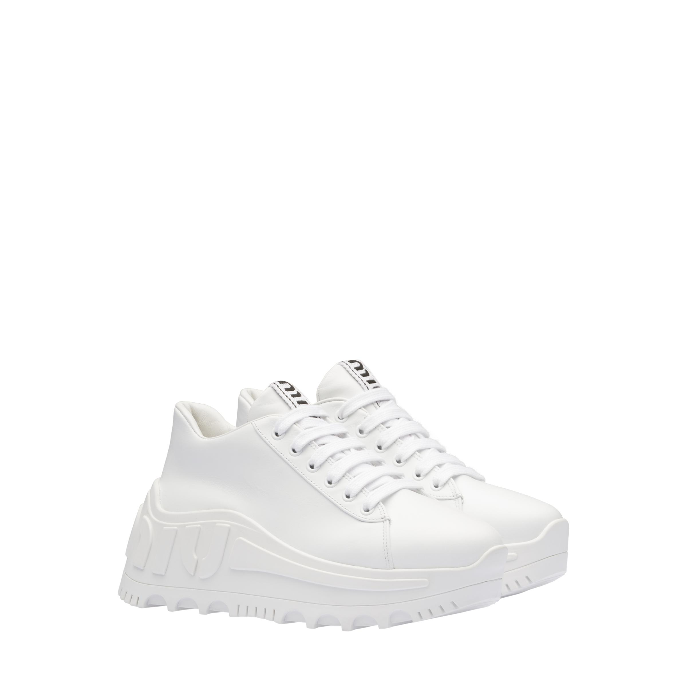 Leather Sneakers Women White