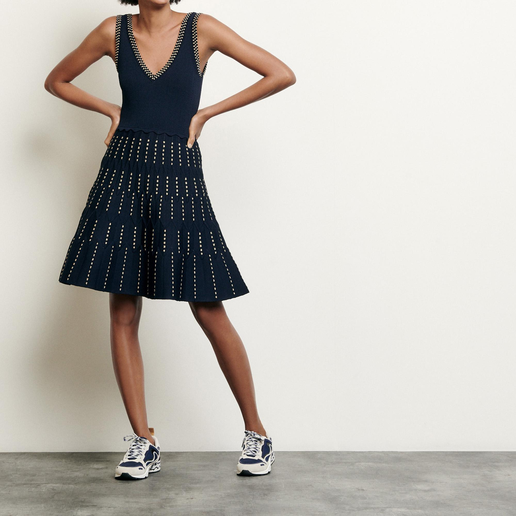 Knitted dress with lurex details