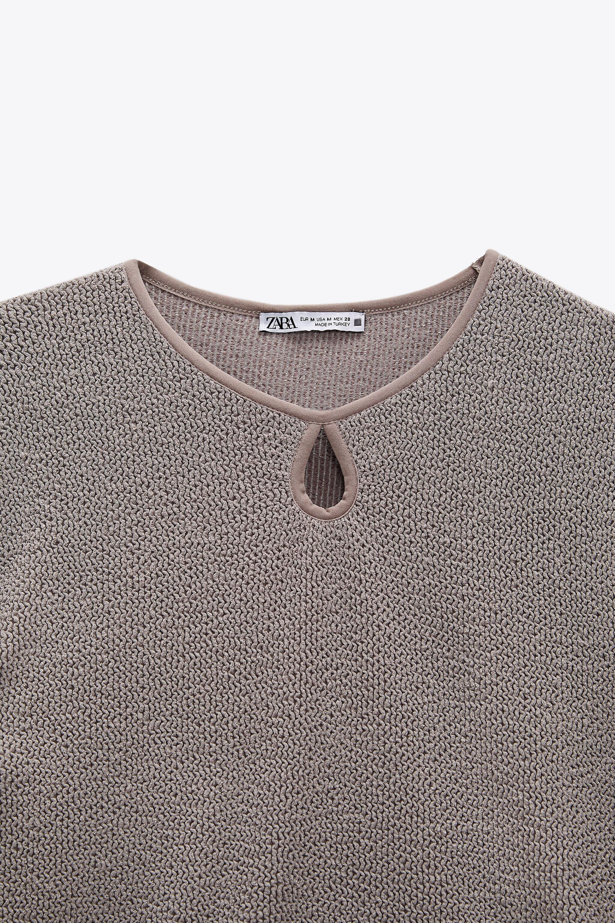 CROPPED TEXTURED WEAVE SHIRT 5