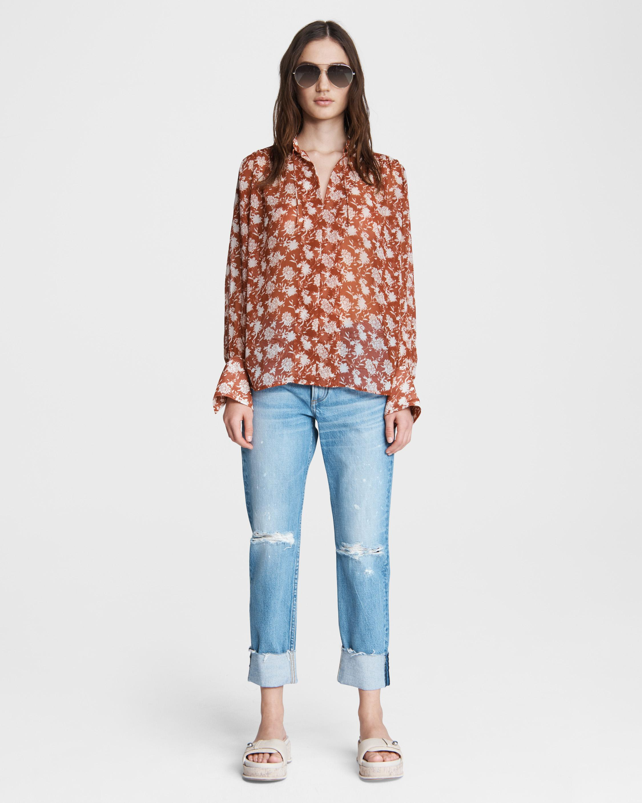 Carly floral tie blouse 1