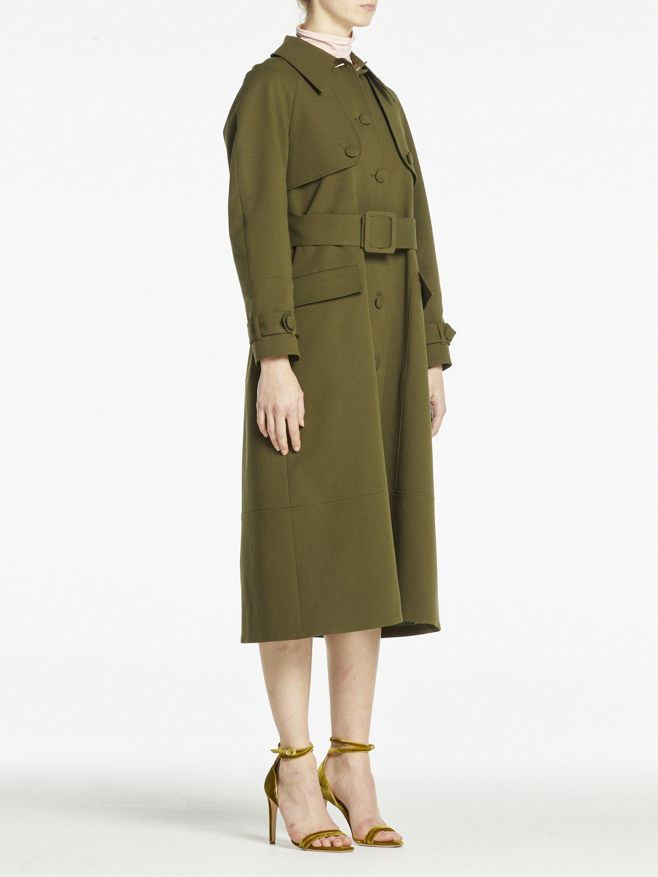 MALLORY COAT OLIVE GREEN COTTON