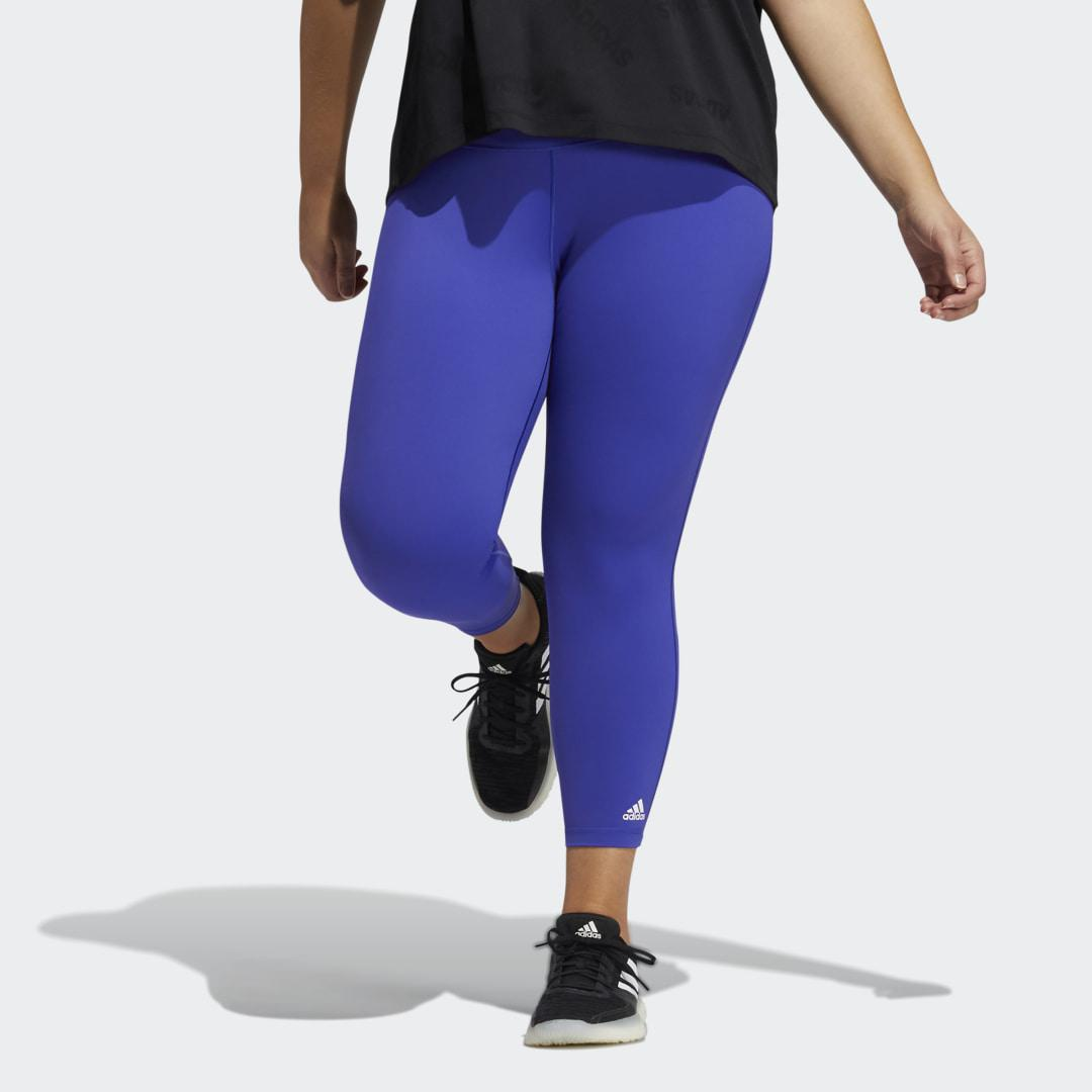 Believe This Solid 7/8 Tights (Plus Size) Semi Night Flash 3X - Womens Training Pants
