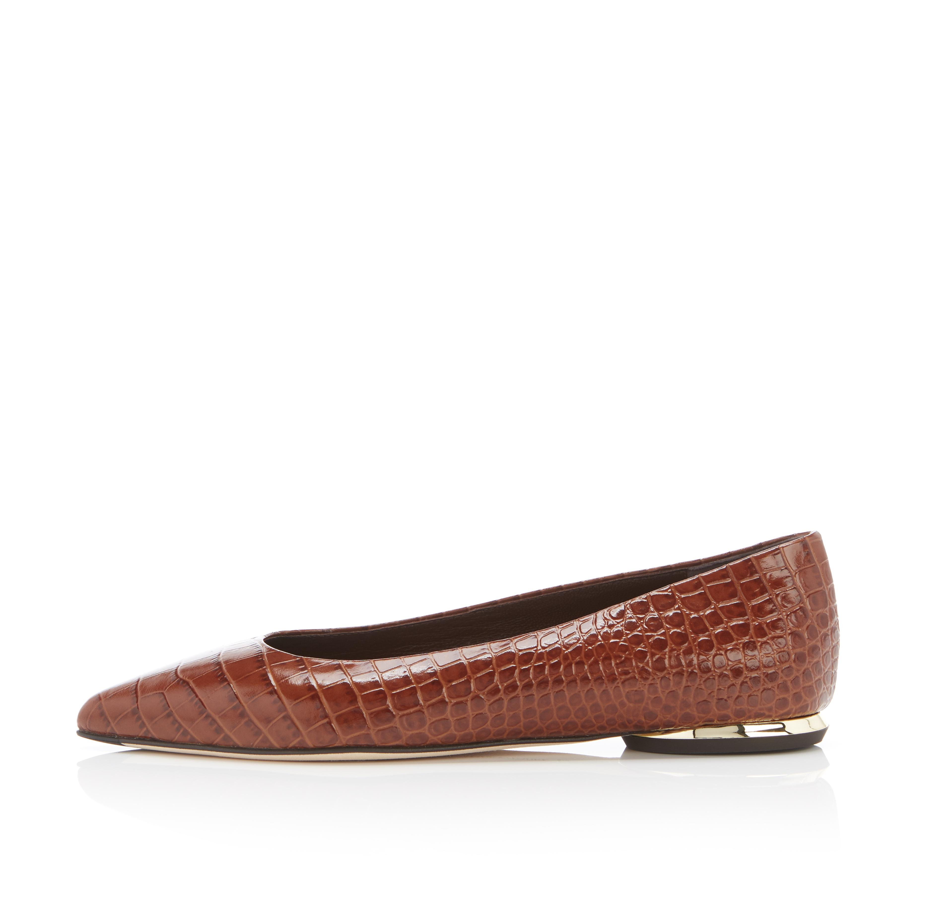 Must Have Flat | Croco Print Classic Pointy Toe Flat