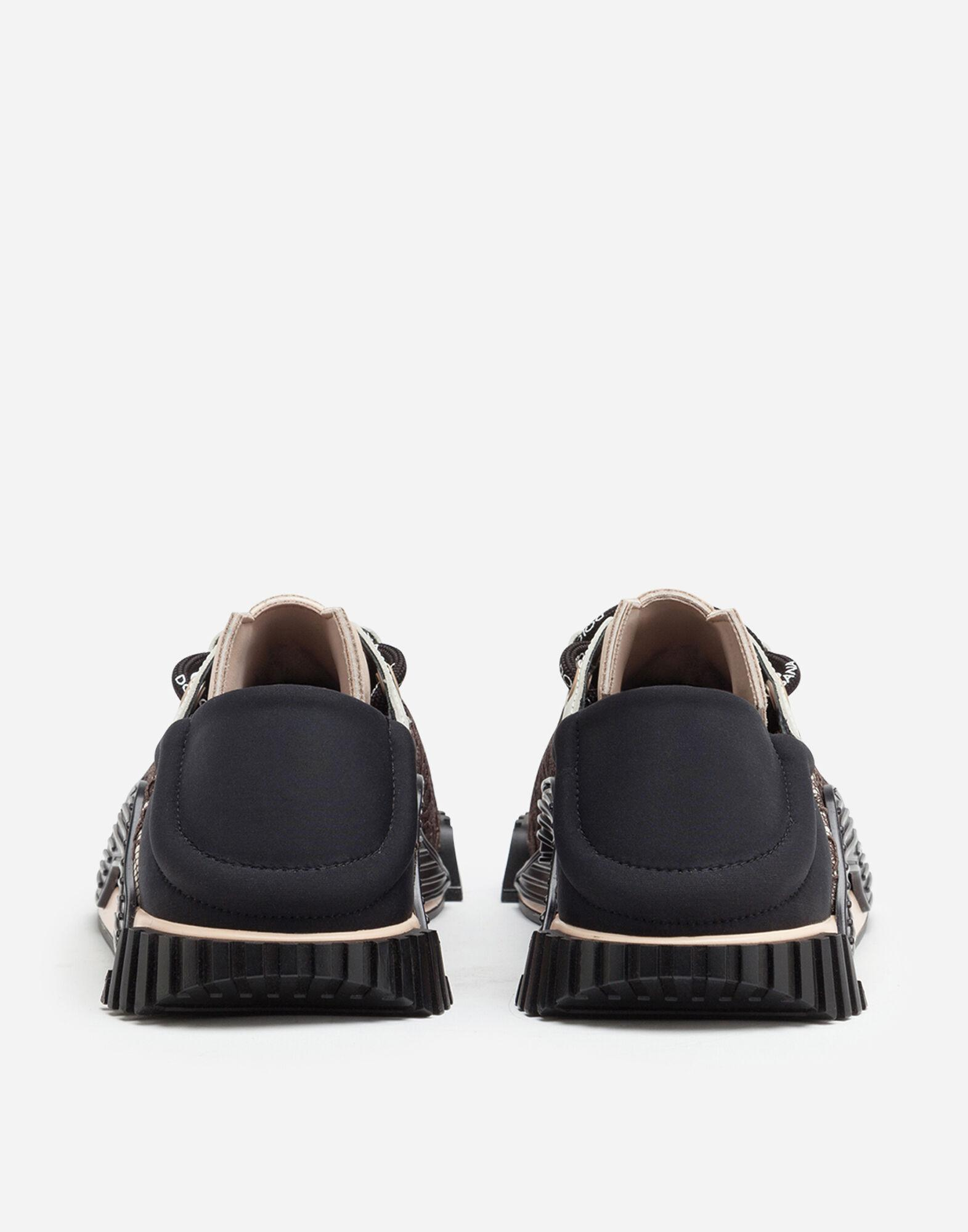 NS1 slip-on sneakers in mixed materials 2