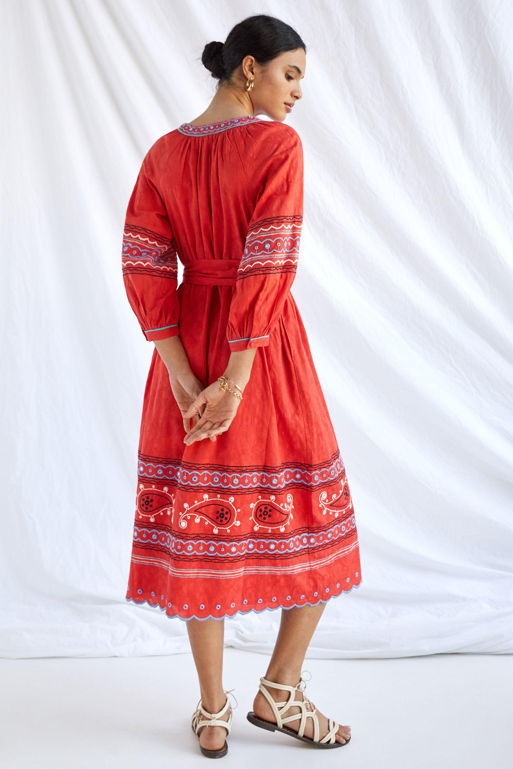 Scarlet Puff-Sleeved Maxi Dress 1