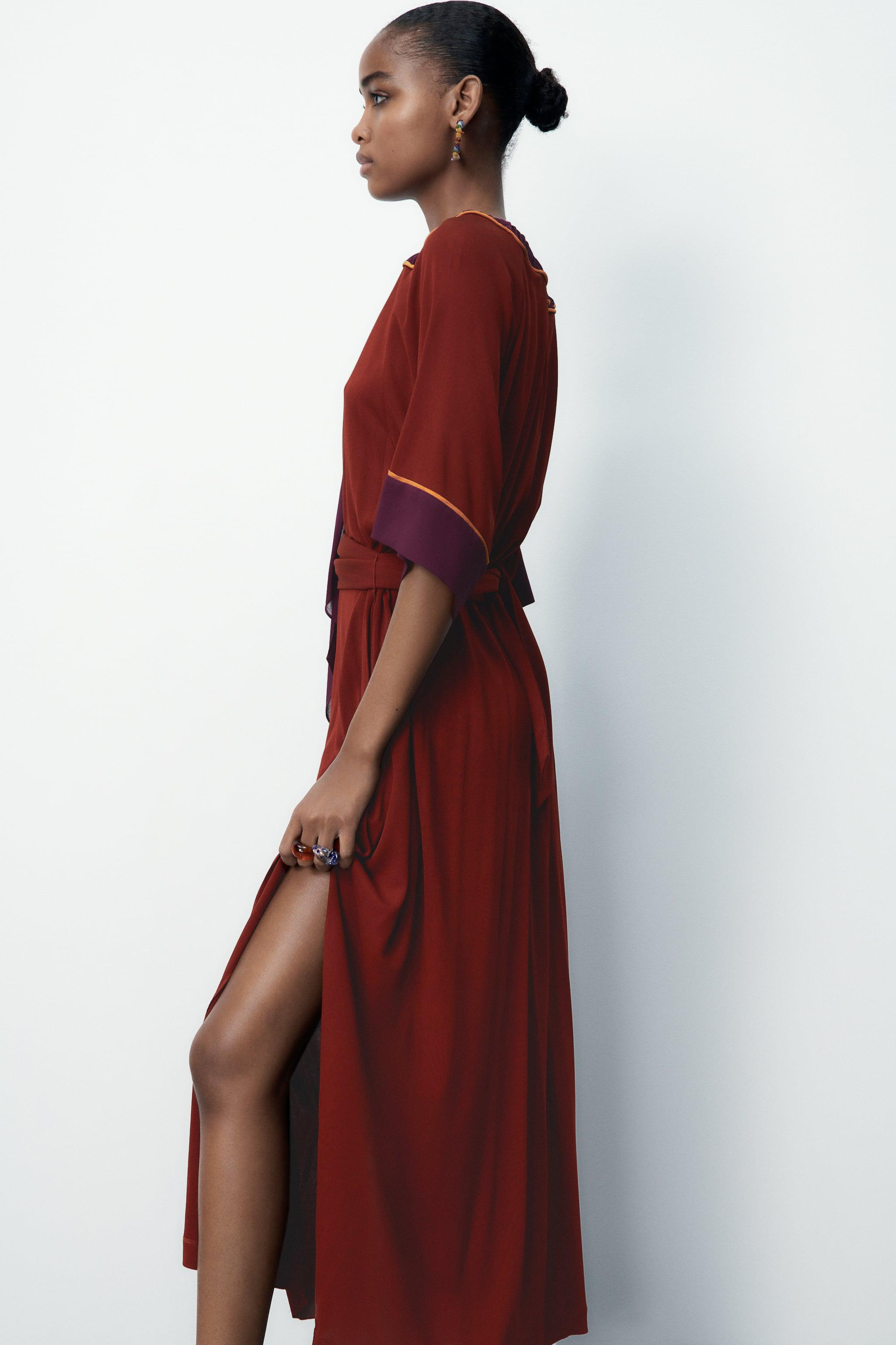 LIMITED EDITION CONTRASTING DRESS 4