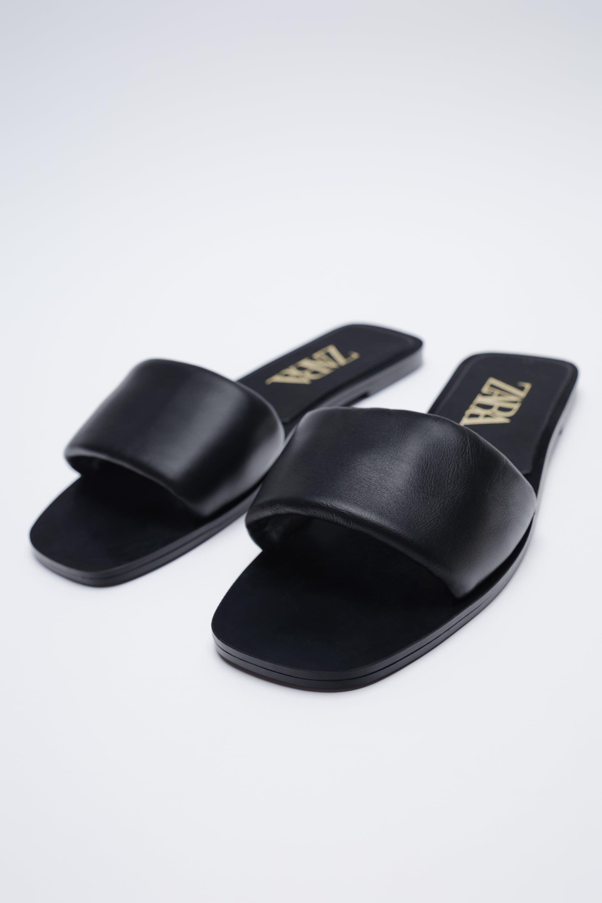 FLAT PADDED LEATHER SANDALS 3
