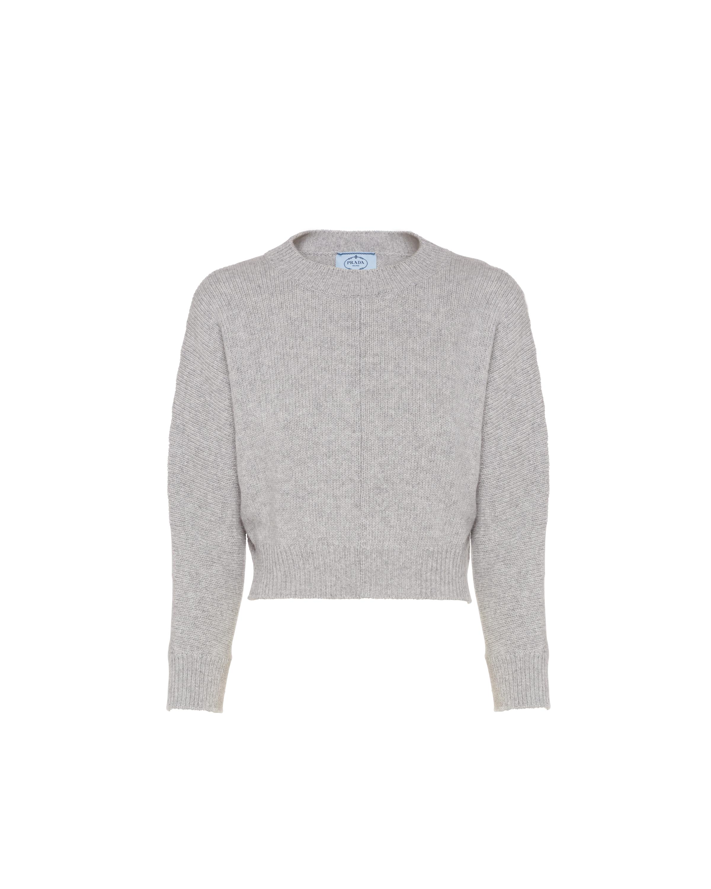 Cashmere Wool Crew-neck Sweater Women Marble Gray 5