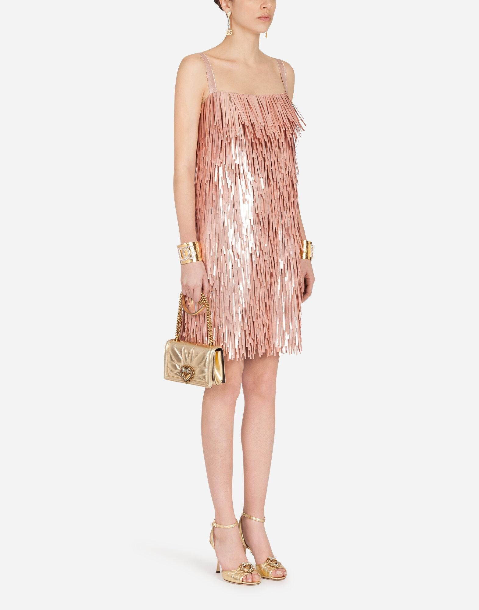 Short dress with sequin embellishment