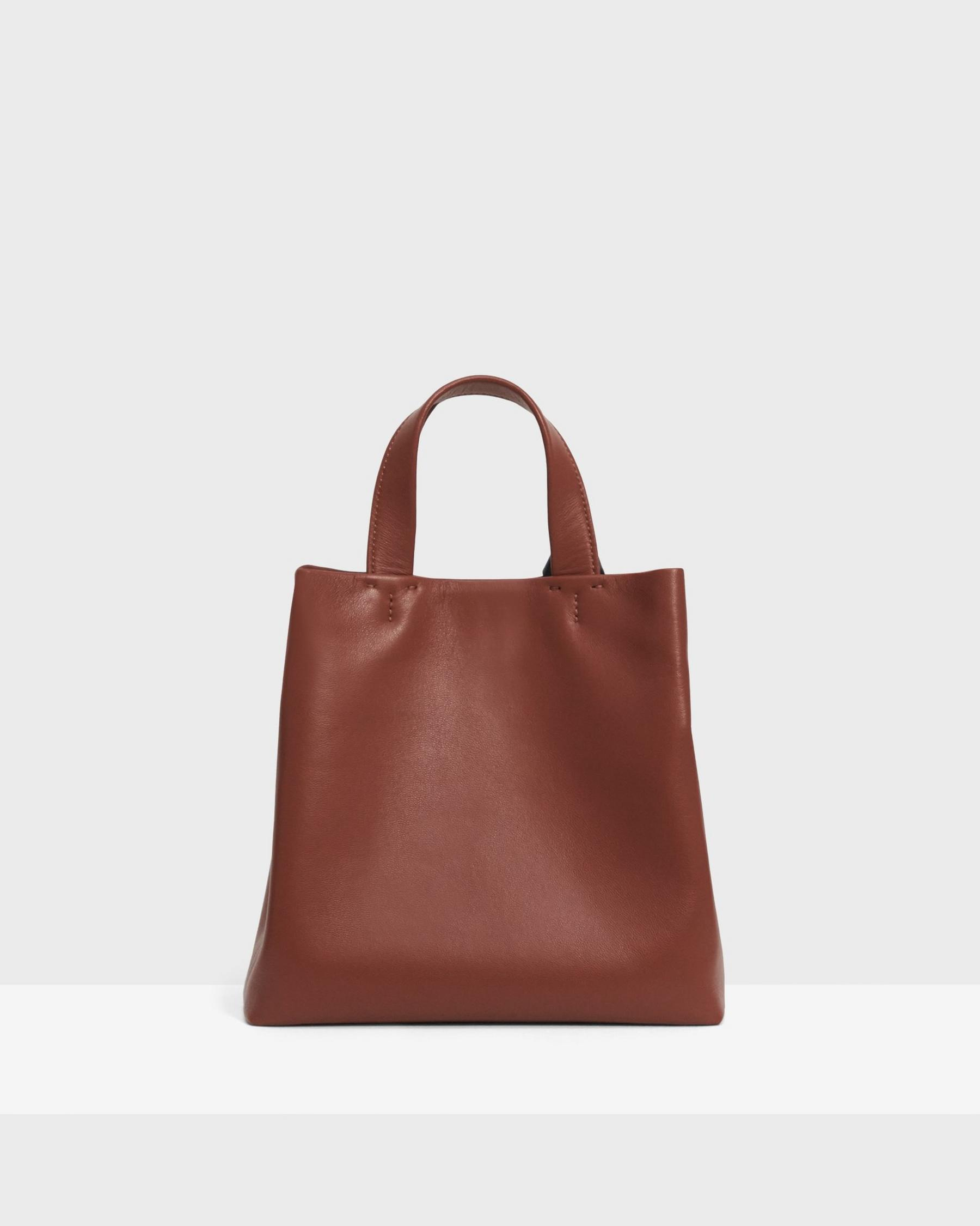 Small Simple Tote in Leather 1