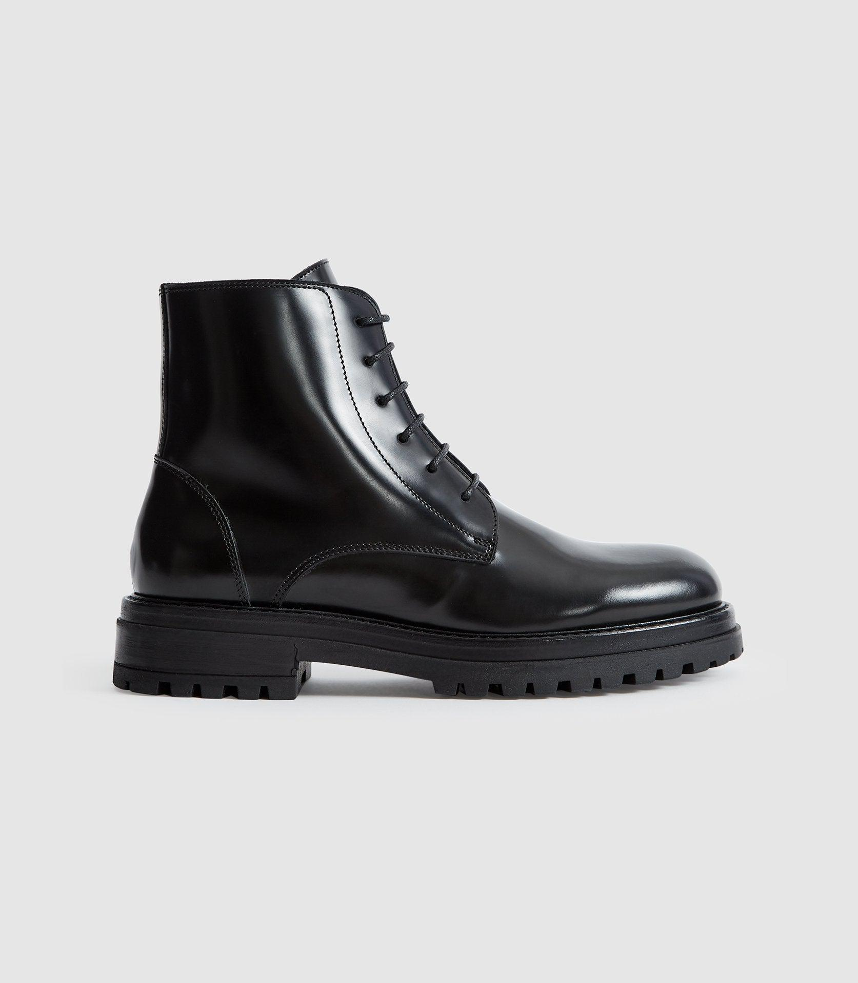 STEPNEY - LEATHER ANKLE BOOTS