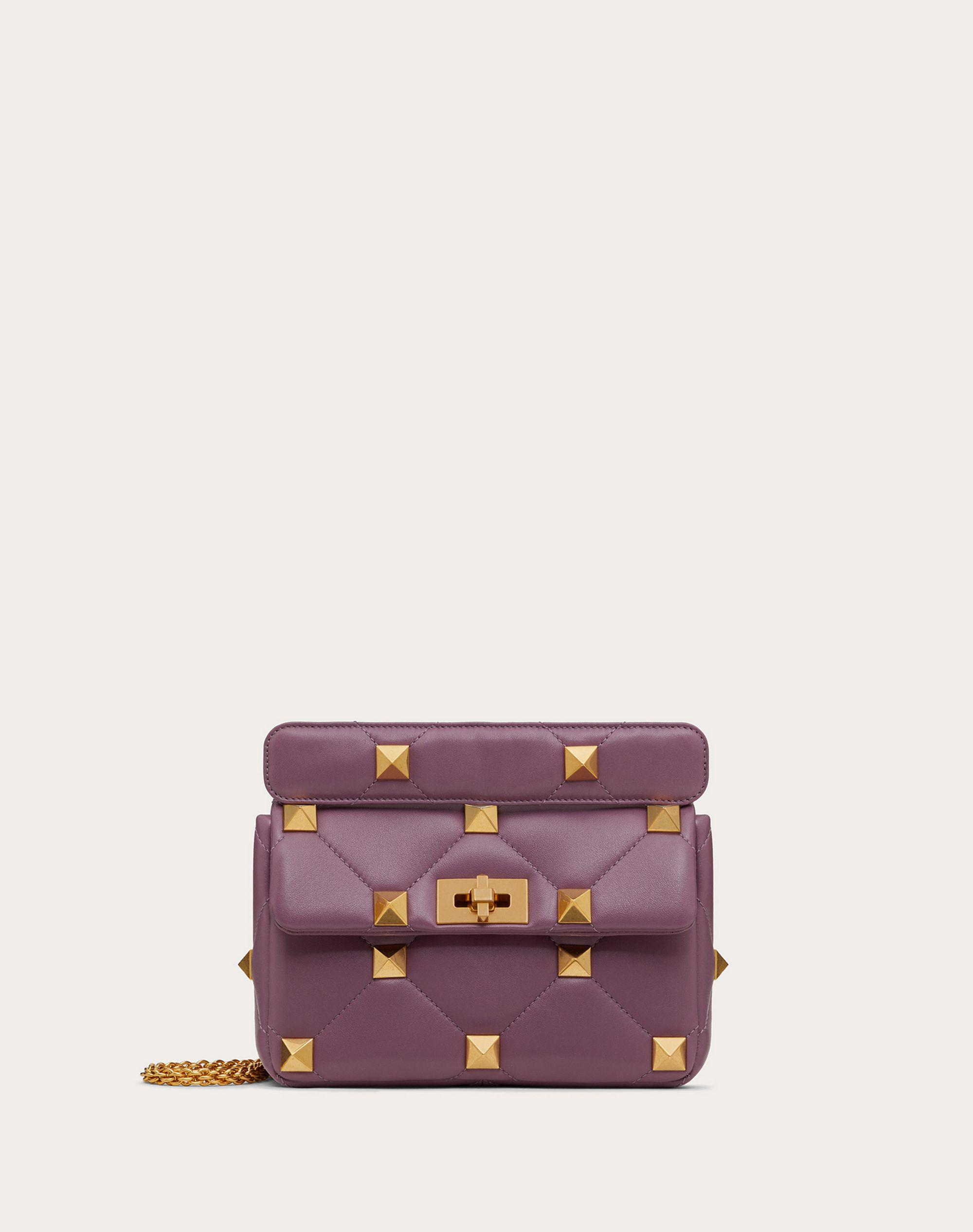 Medium Roman Stud The Shoulder Bag in Nappa with Chain