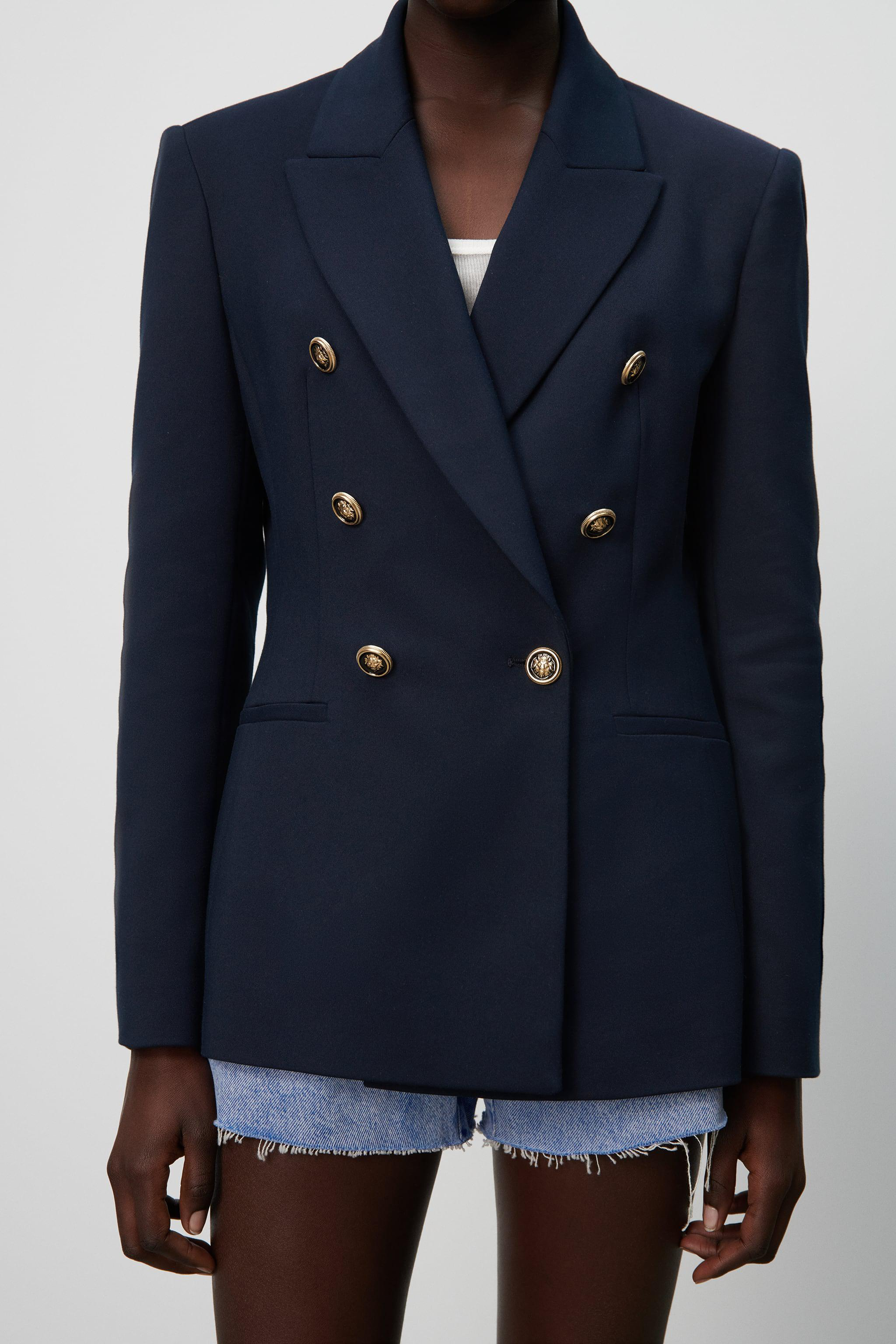 DOUBLE BREASTED BUTTONED BLAZER 5