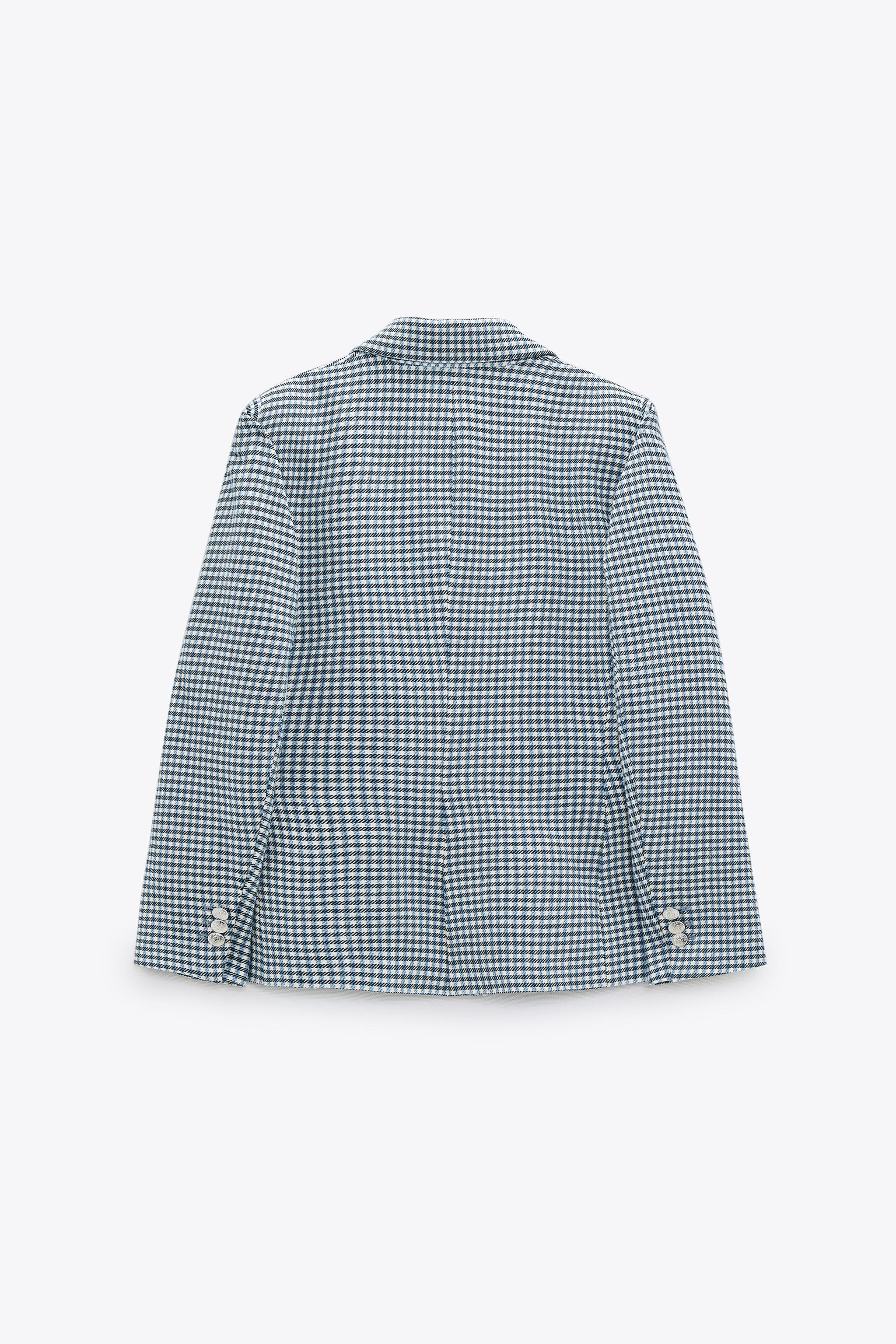 DOUBLE BREASTED HOUNDSTOOTH BLAZER 7