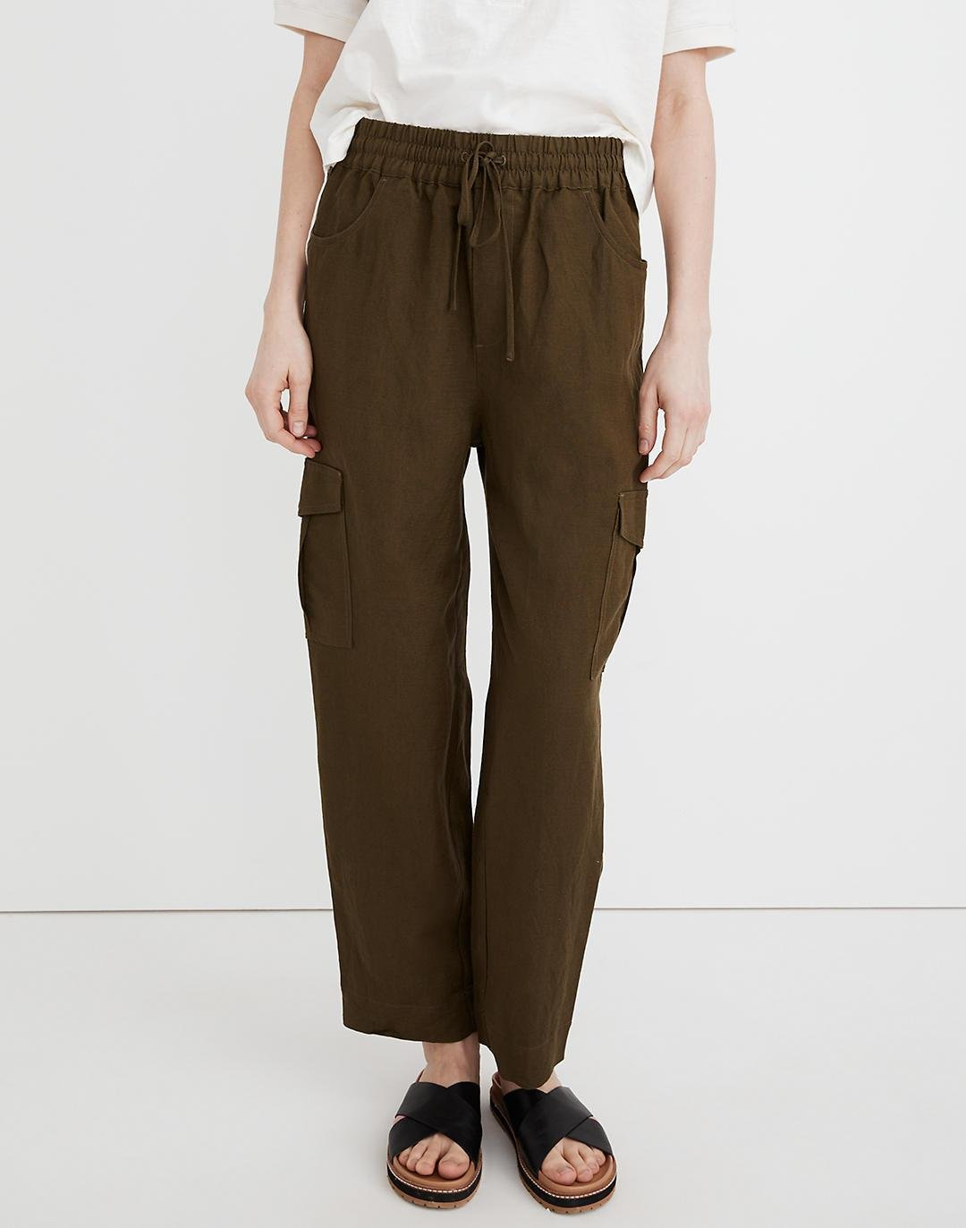 Tapered Huston Cargo Pull-On Crop Pants 1