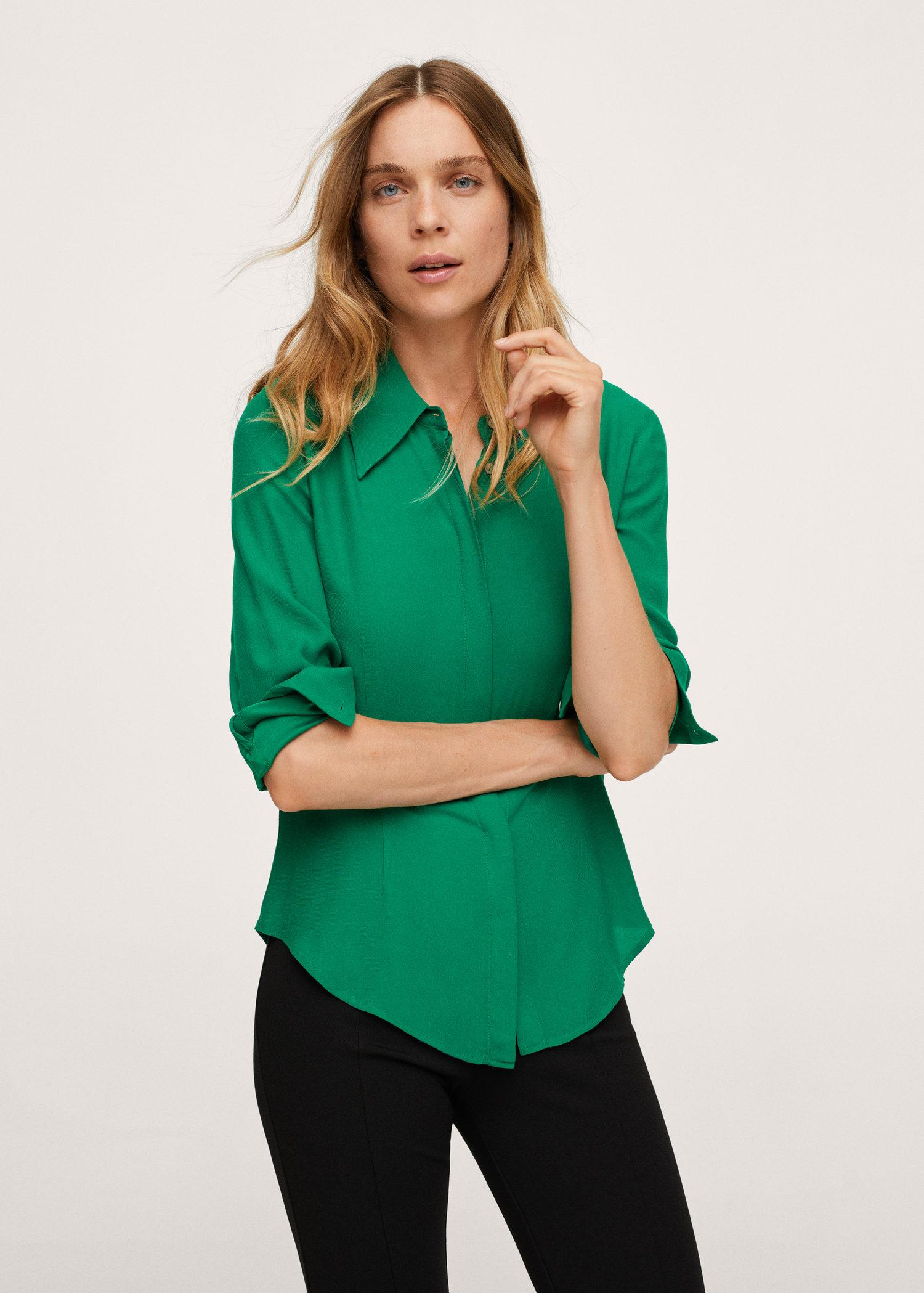 Concealed button shirt