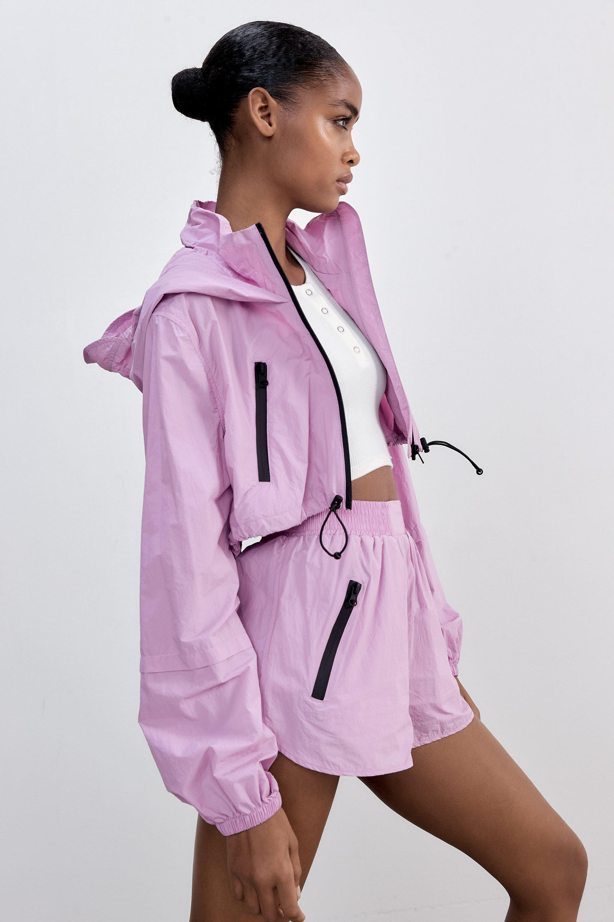 CROPPED RAINCOAT WITH ZIPPERS 2