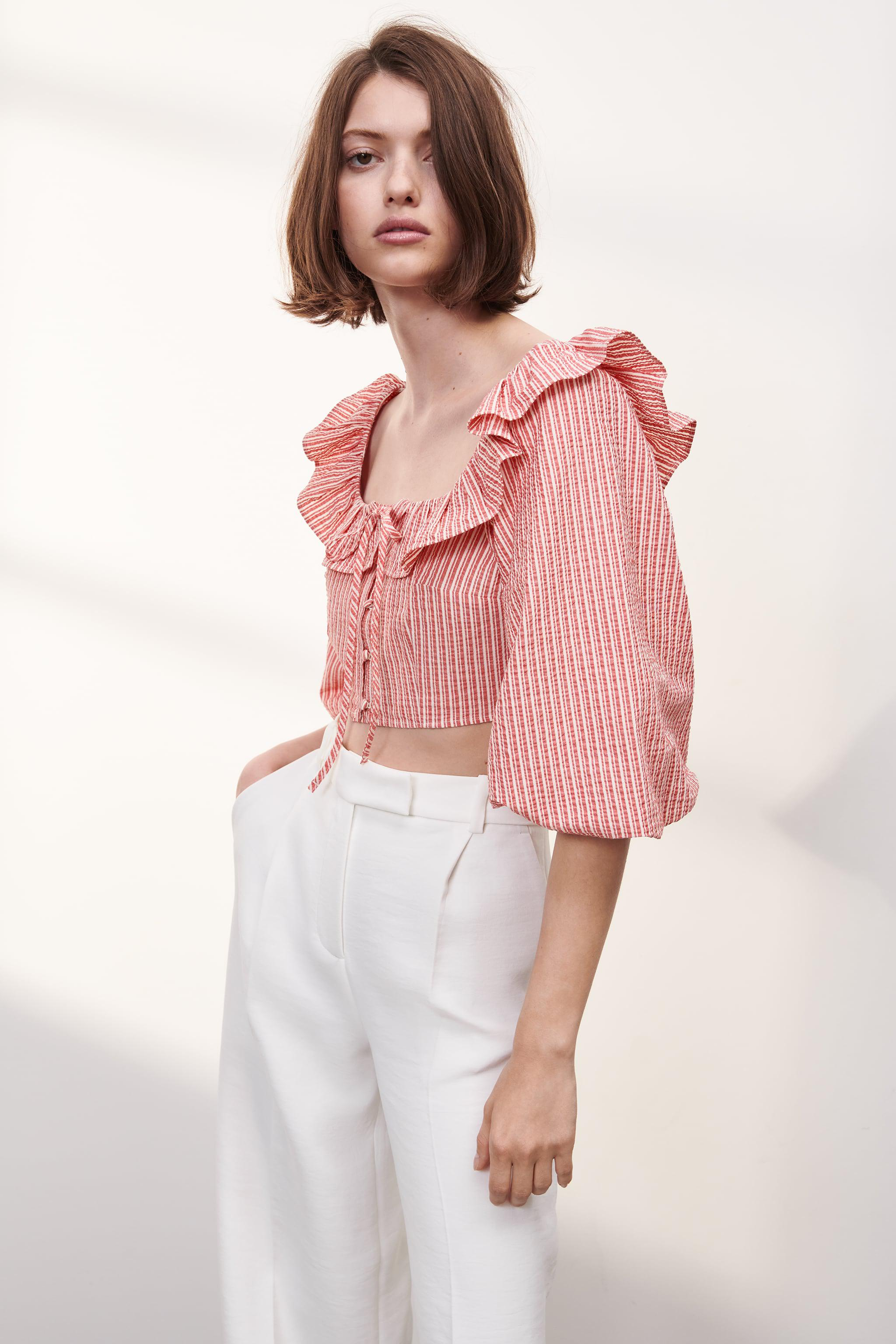 STRIPED TOP WITH RUFFLES 1