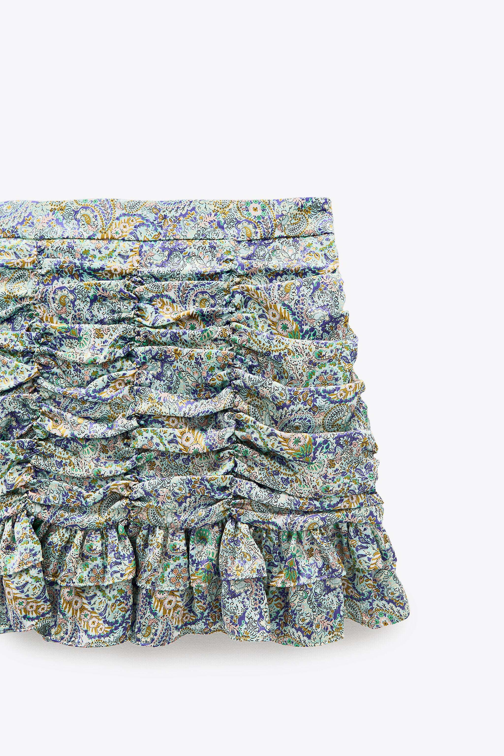 RUCHED PRINTED SKIRT 5