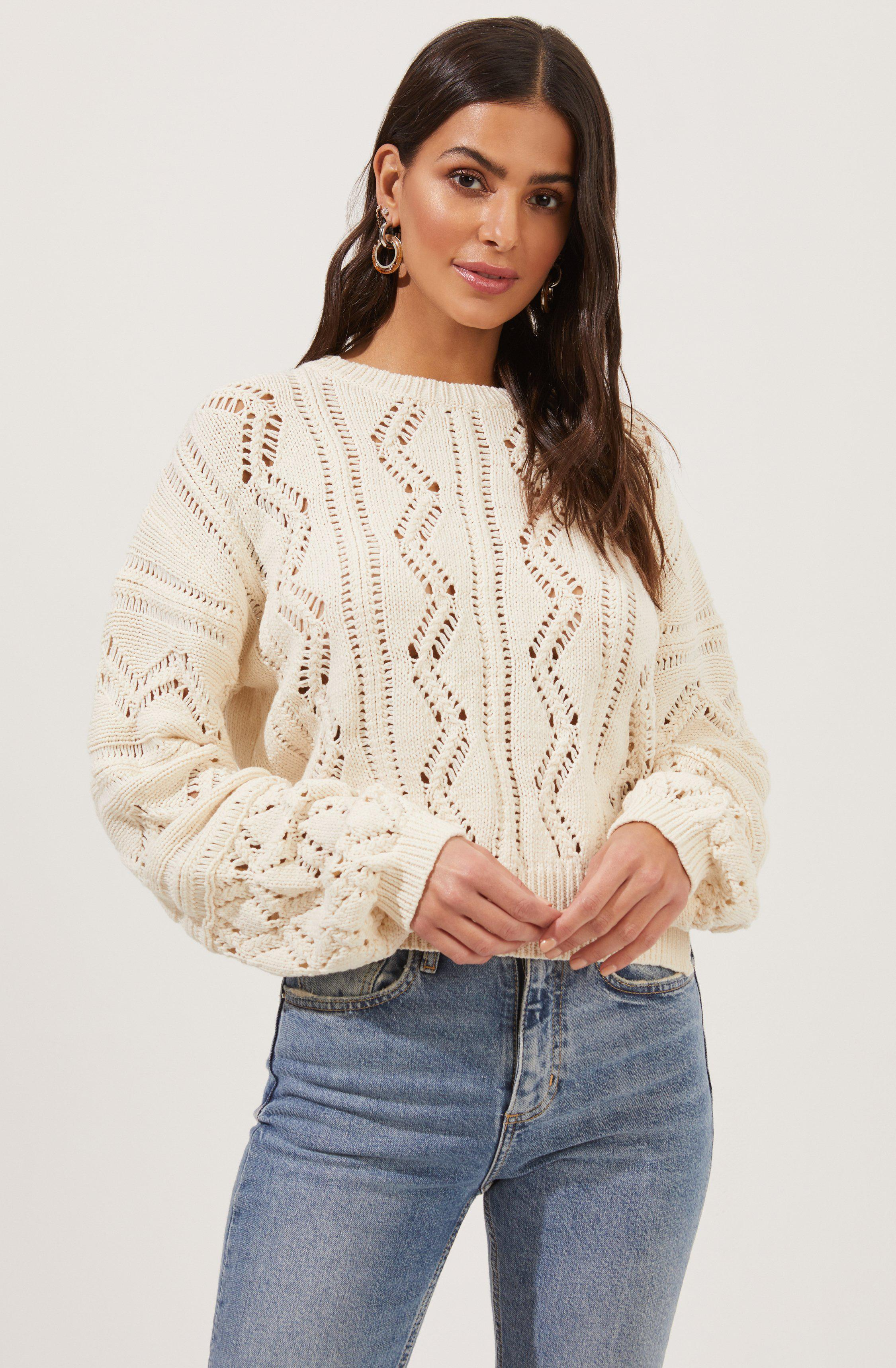 Soulmate Pointelle Knit Sweater