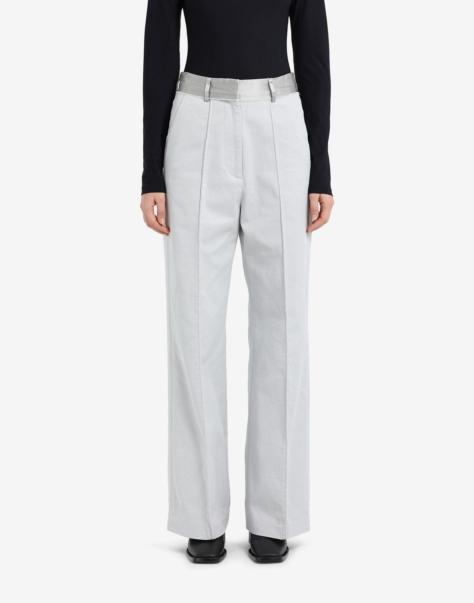 Spliced cotton trousers 3