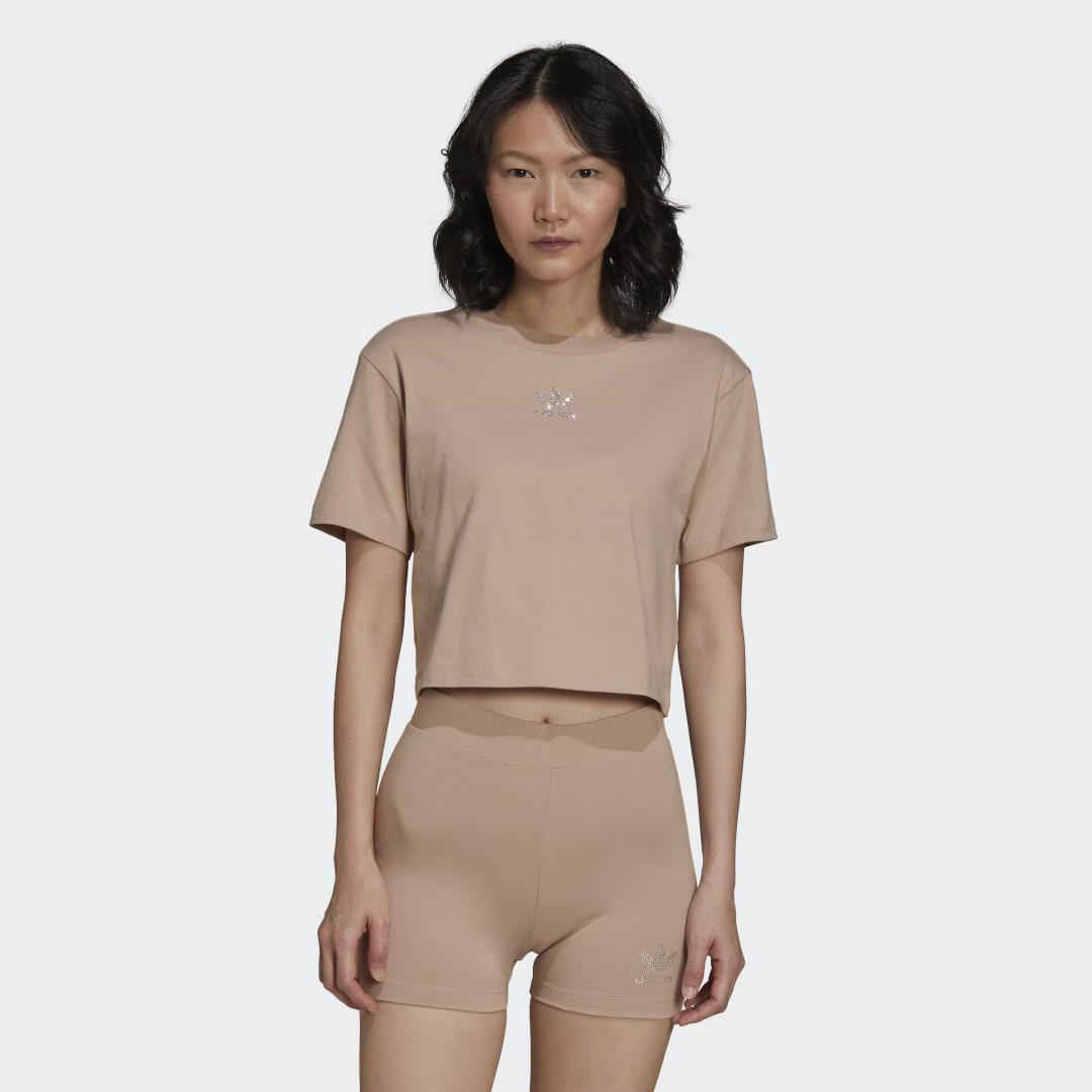 2000 Luxe Cropped Tee Beige