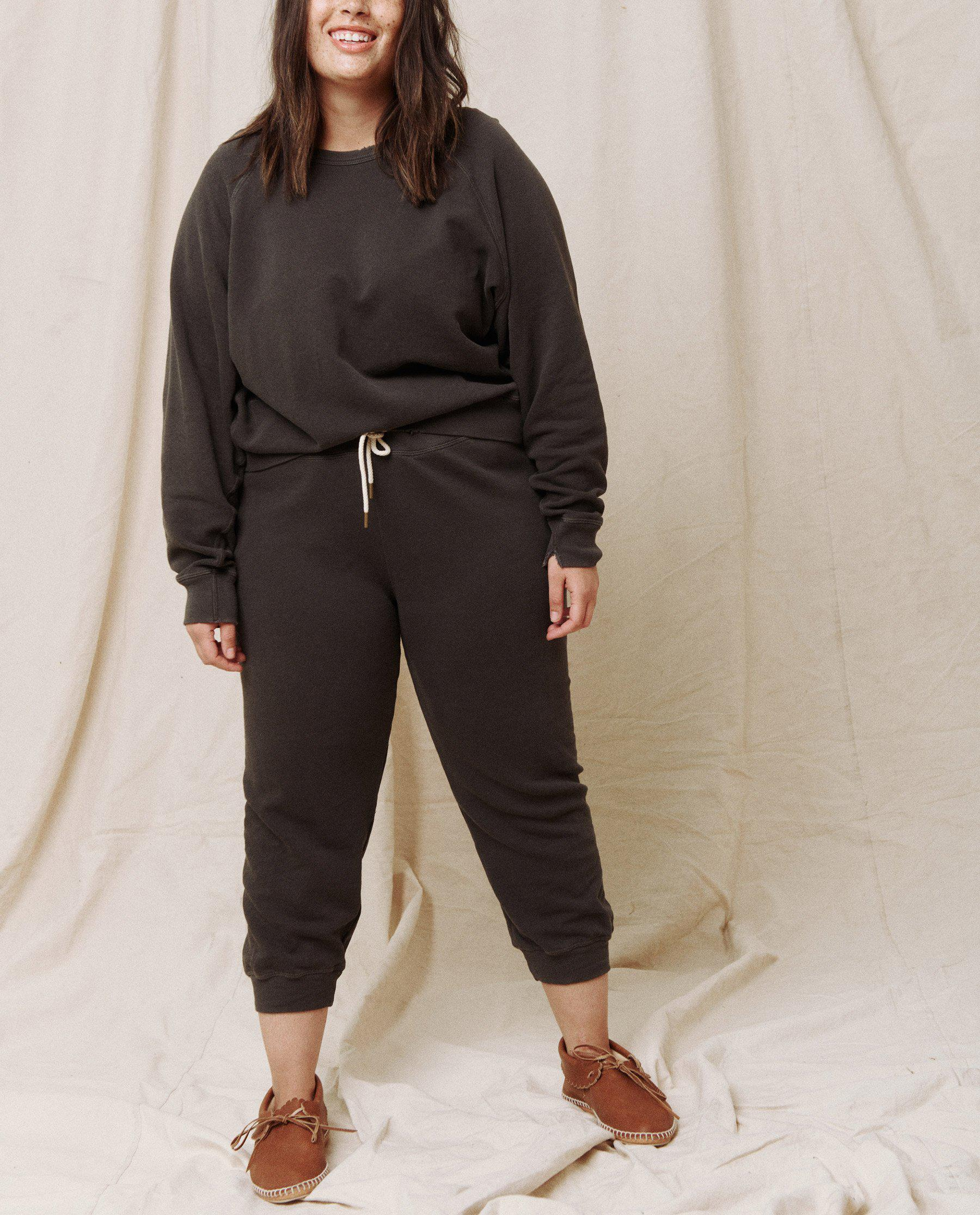 The Cropped Sweatpant. Solid -- Washed Black 7