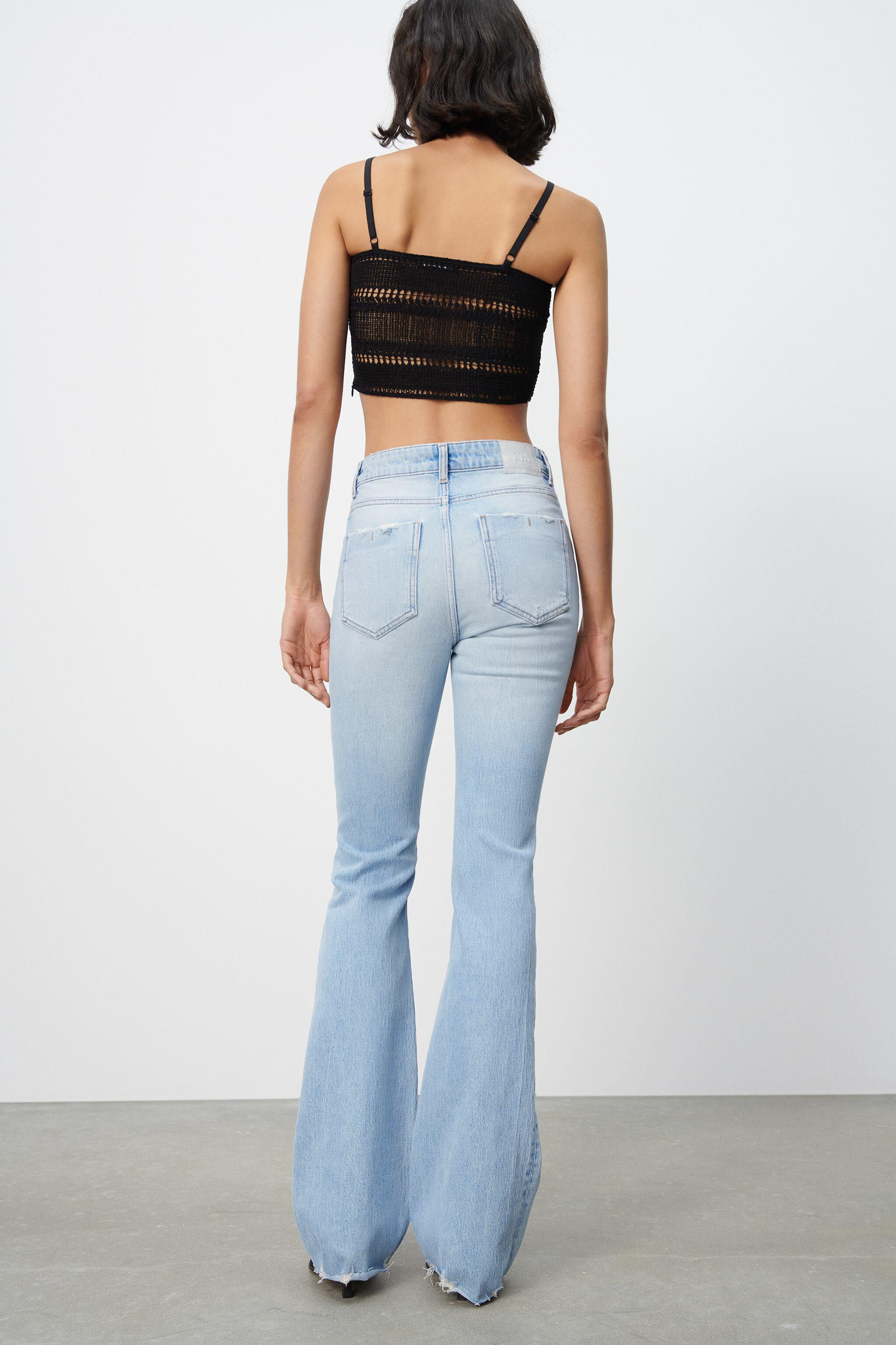 Z1975 RIPPED FLARE JEANS 5