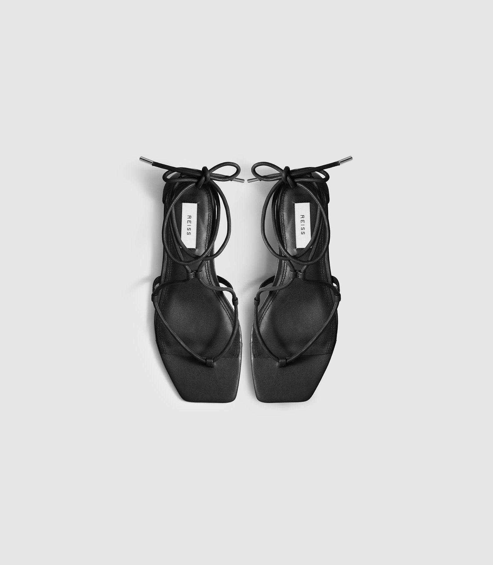 KALI FLAT - LEATHER STRAPPY WRAP SANDALS 1