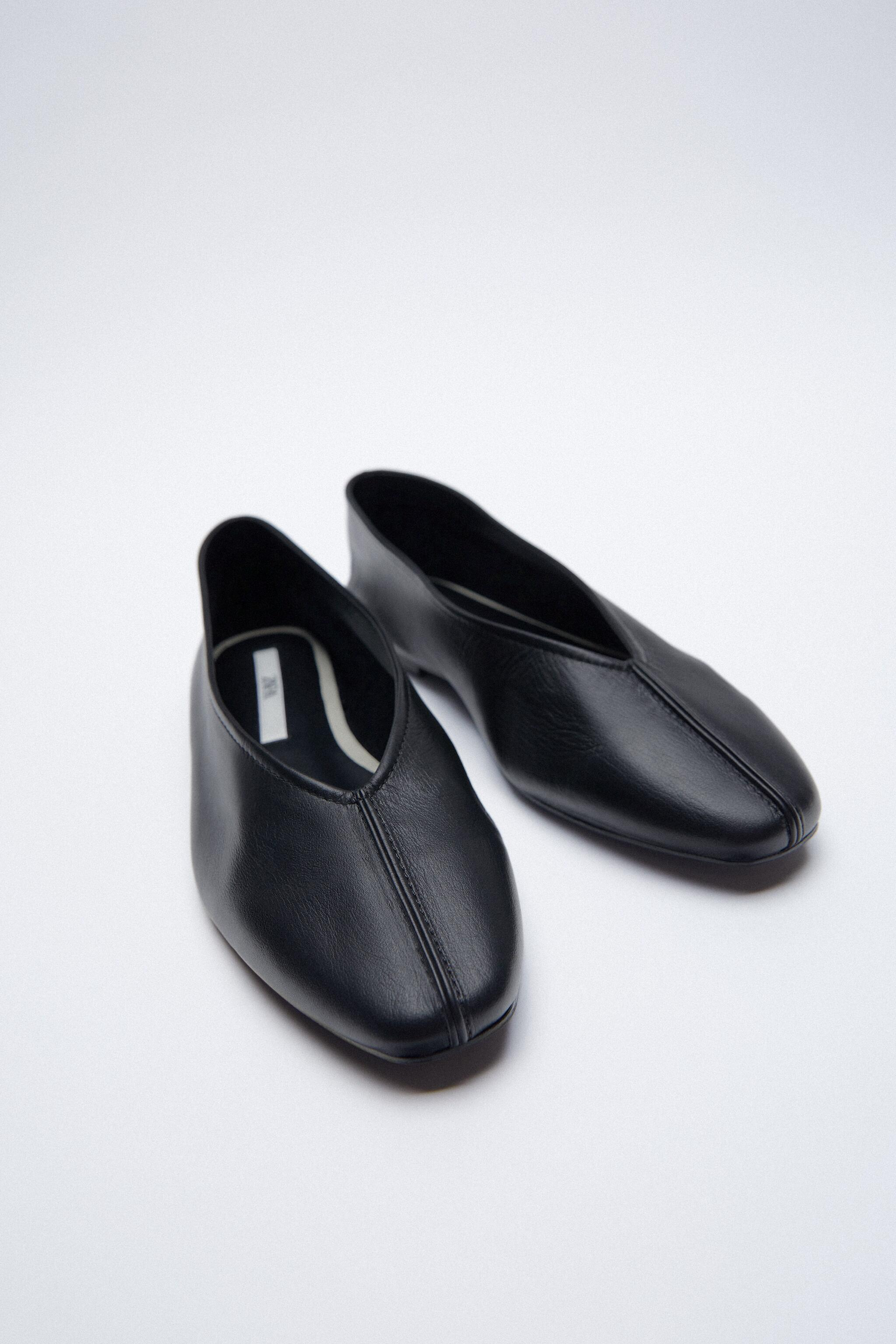 LEATHER BALLET FLATS 4