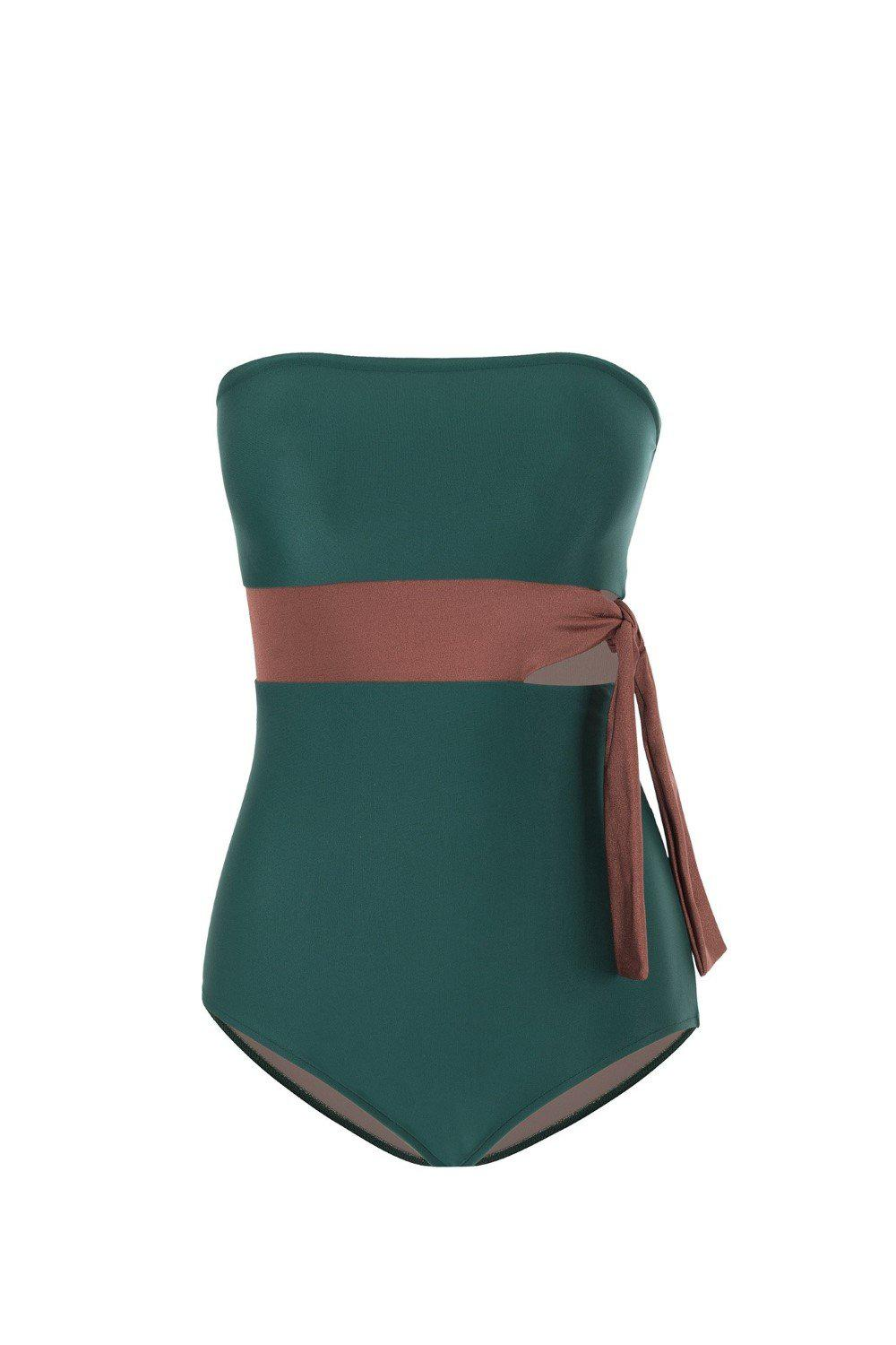 Cinque Terre Strapless Swimsuit with Knot Detail 4