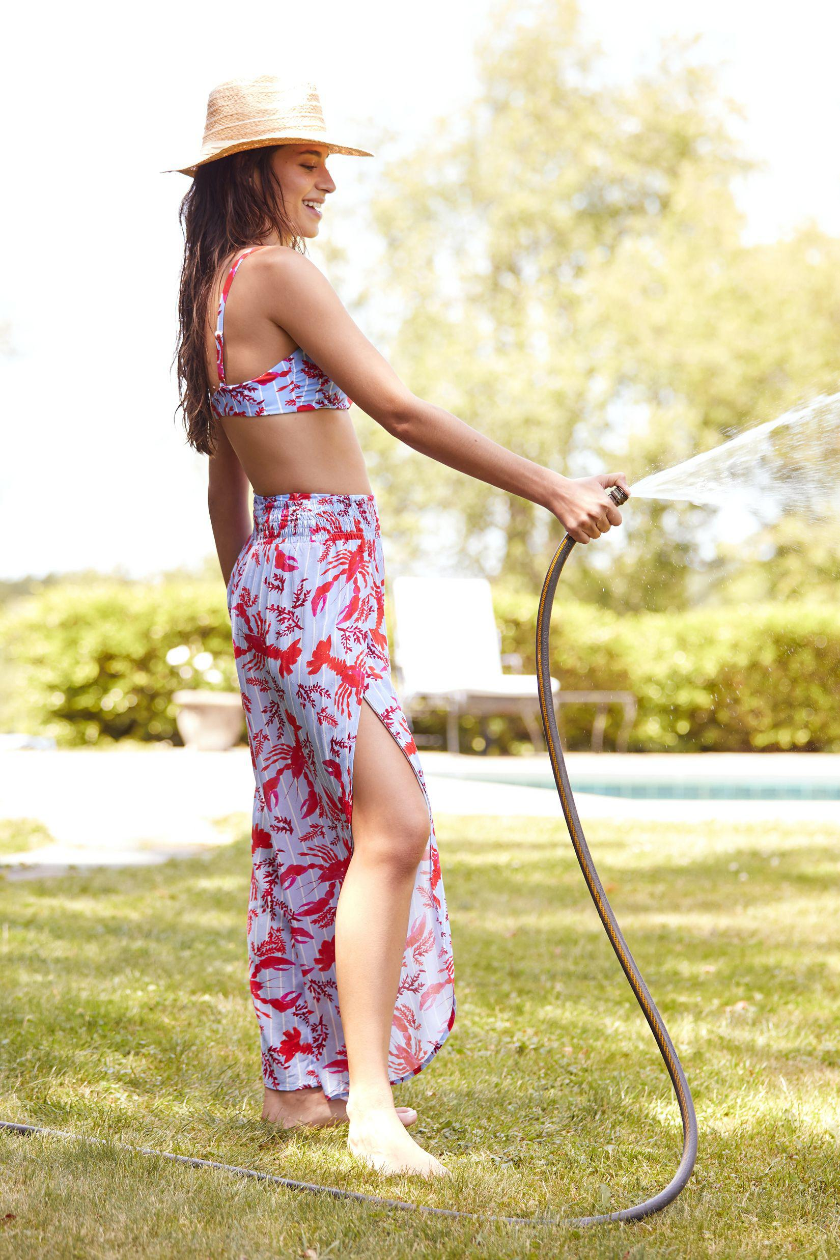 Corey Lynn Calter Lobster Cover-Up Pants